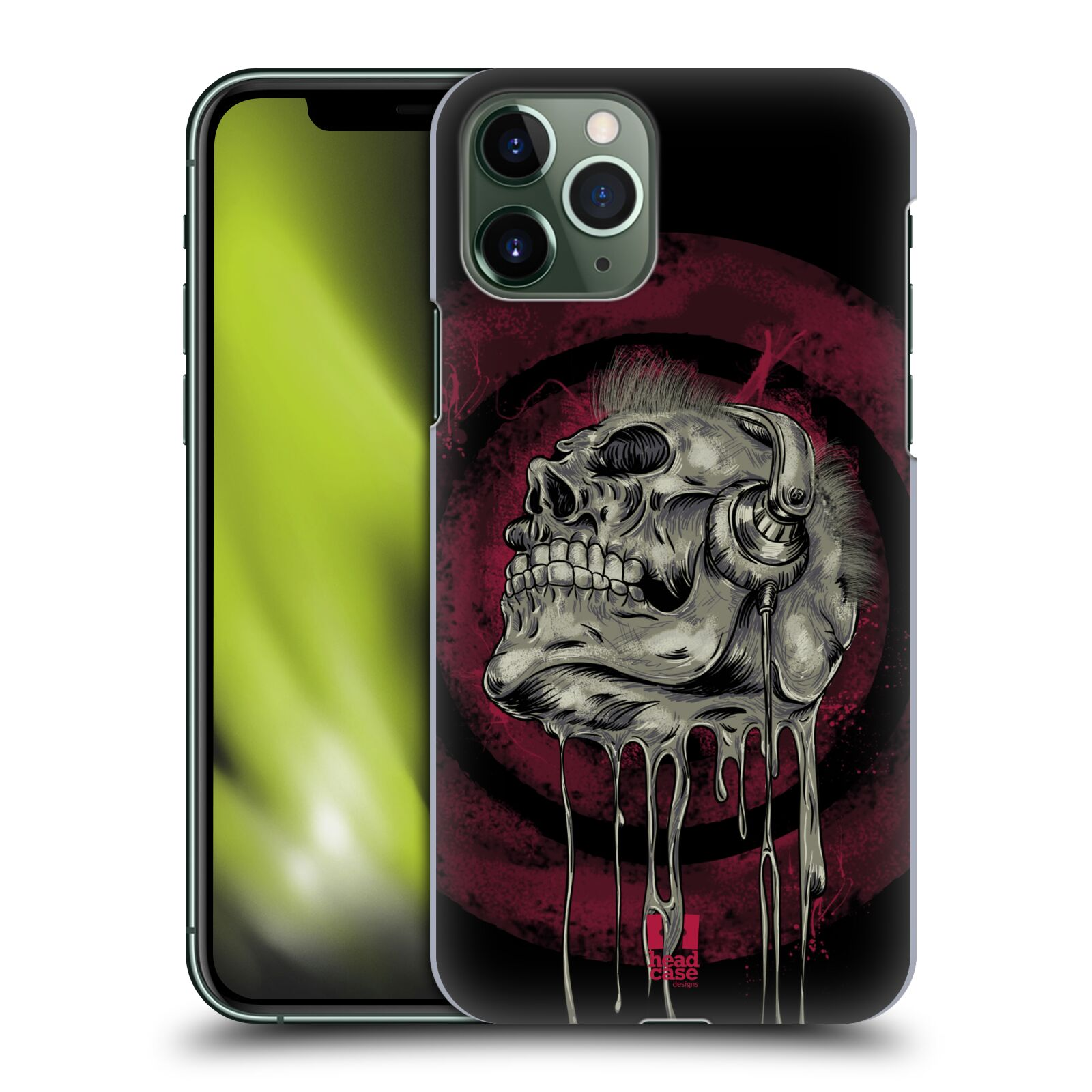 karl krytu na iphone xr , Plastové pouzdro na mobil Apple iPhone 11 Pro - Head Case - ROCKOVÁ LEBKA