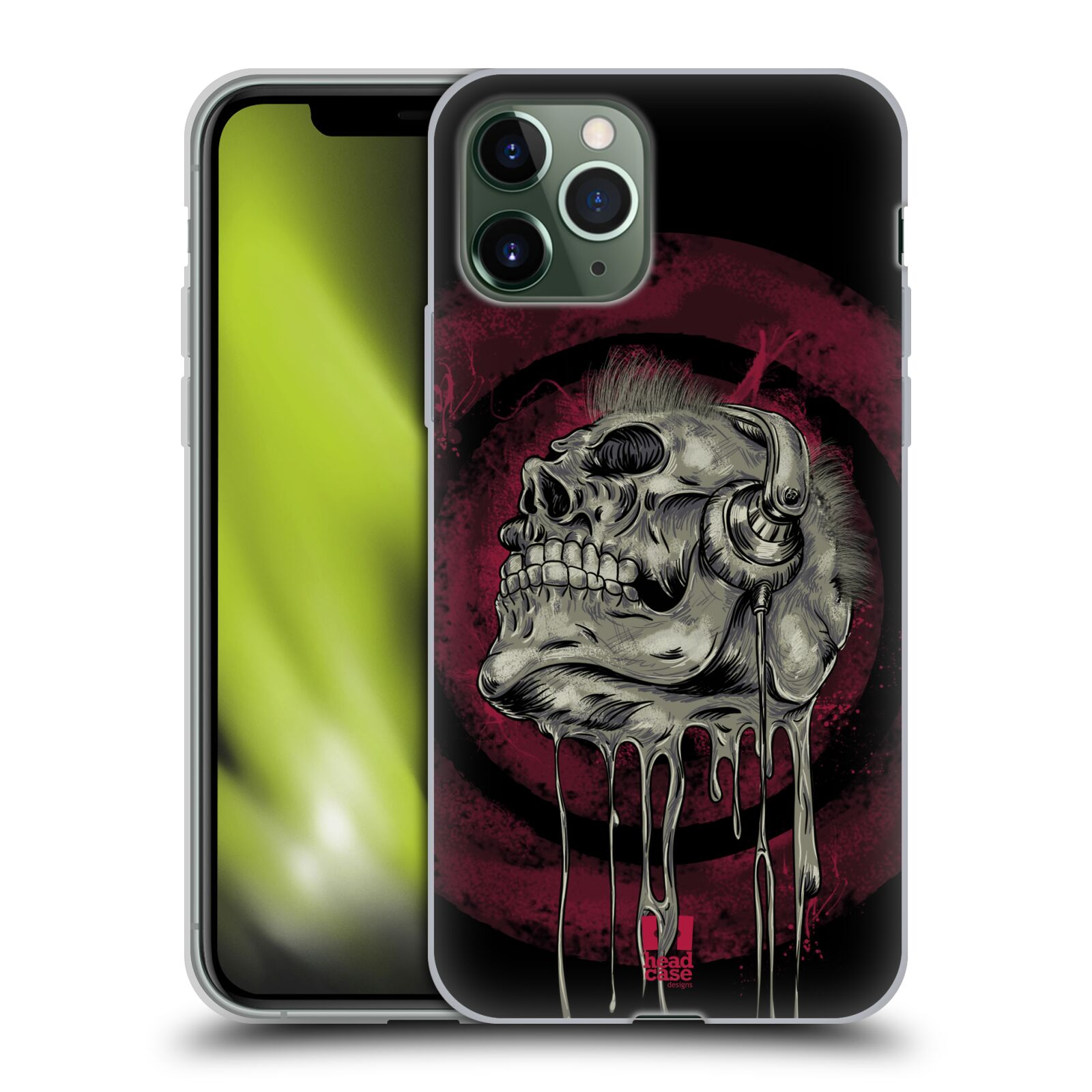 servis iphone , Silikonové pouzdro na mobil Apple iPhone 11 Pro - Head Case - ROCKOVÁ LEBKA