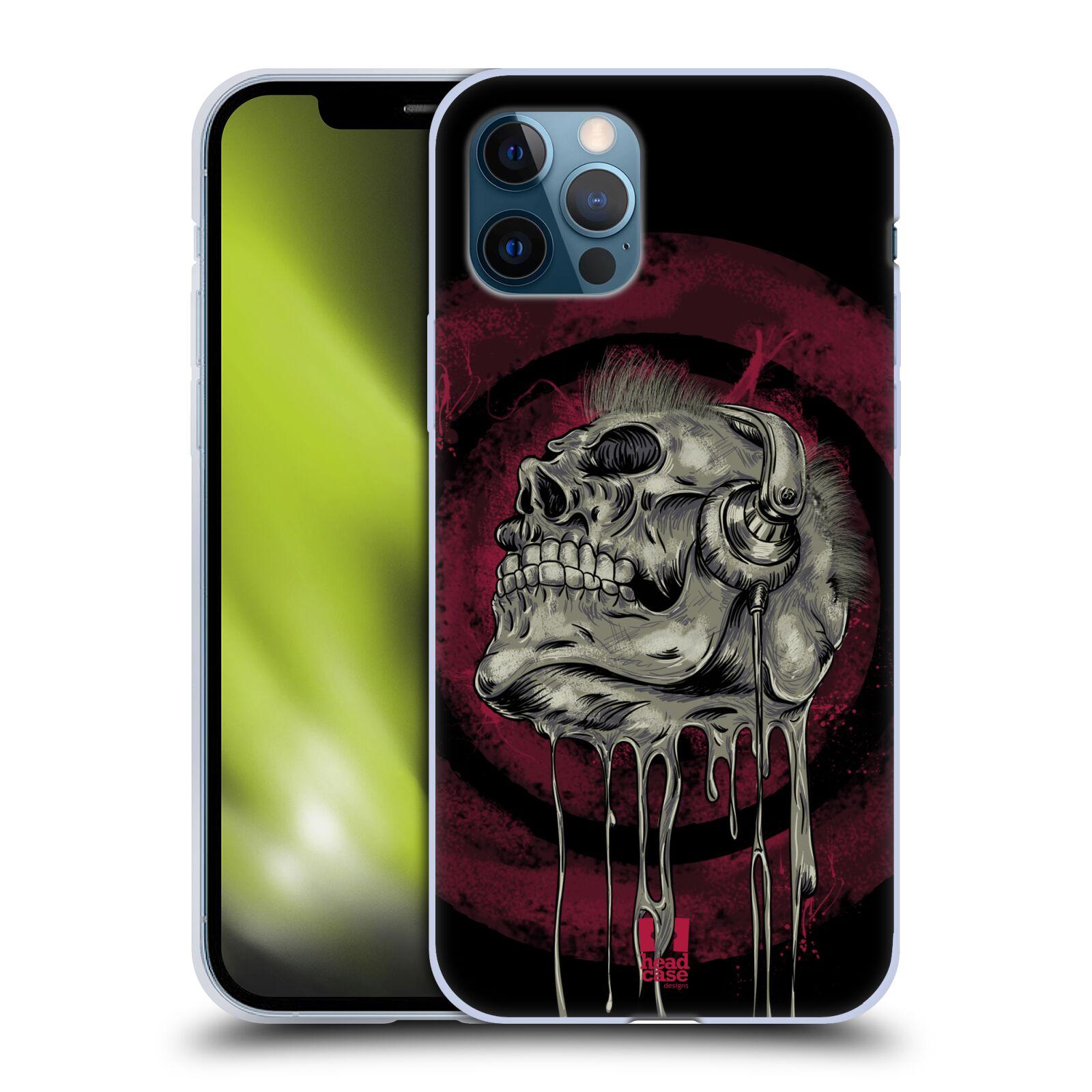 Silikonové pouzdro na mobil Apple iPhone 12 / 12 Pro - Head Case - ROCKOVÁ LEBKA