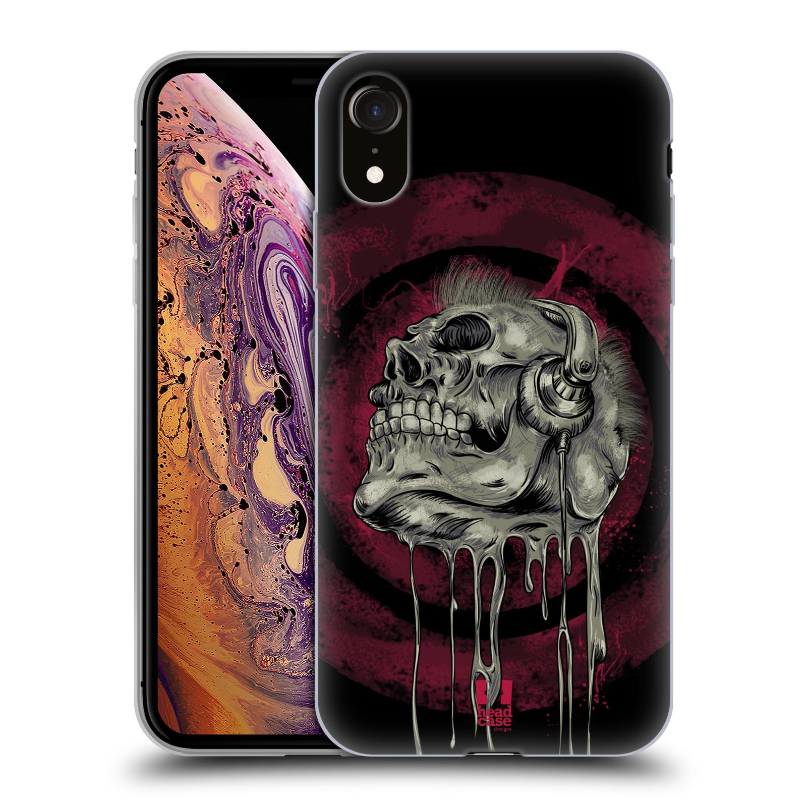 Silikonové pouzdro na mobil Apple iPhone XR - Head Case - ROCKOVÁ LEBKA