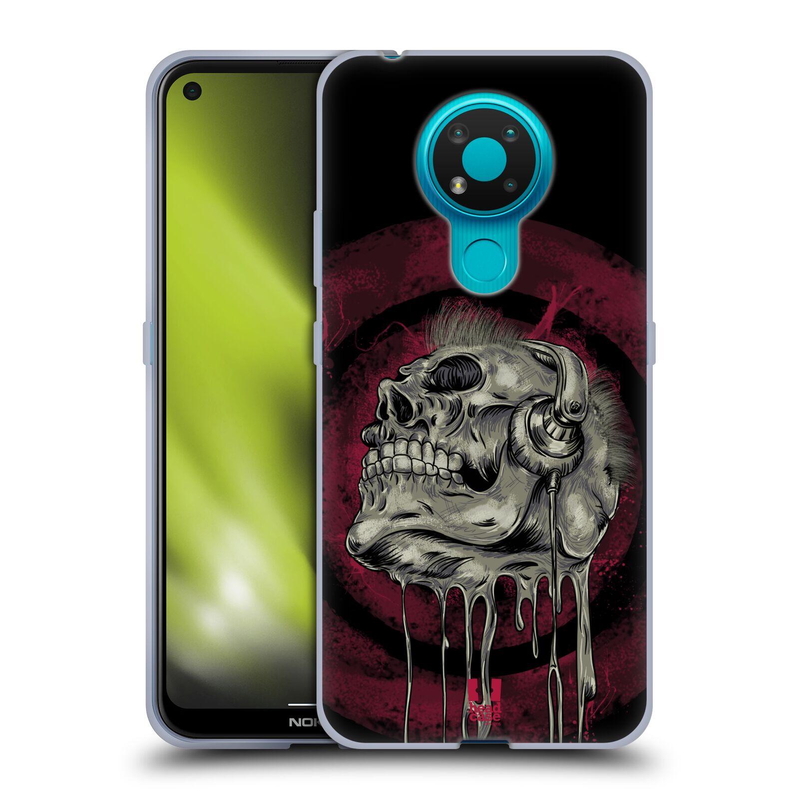 Silikonové pouzdro na mobil Nokia 3.4 - Head Case - ROCKOVÁ LEBKA