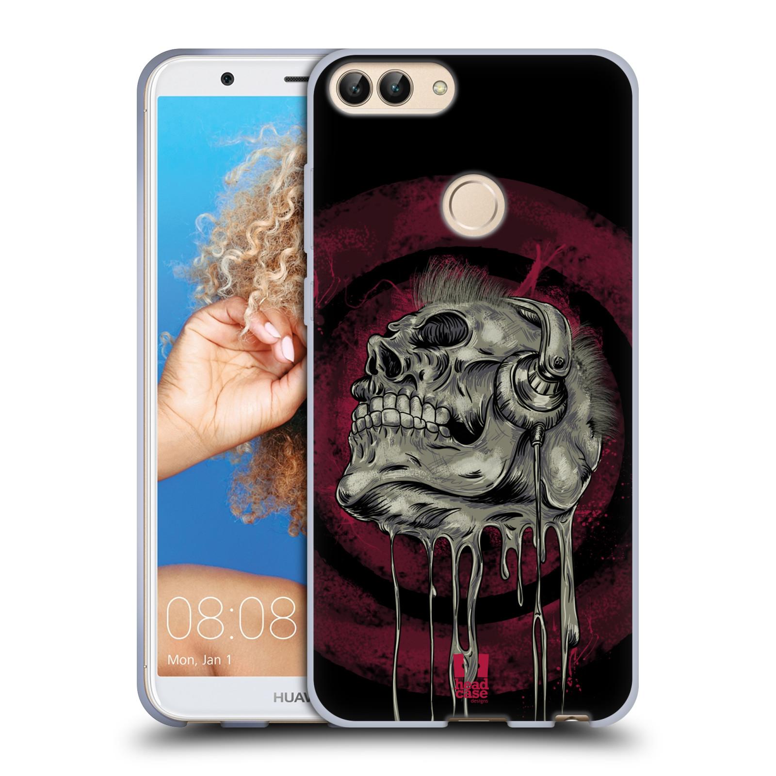 Silikonové pouzdro na mobil Huawei P Smart - Head Case - ROCKOVÁ LEBKA