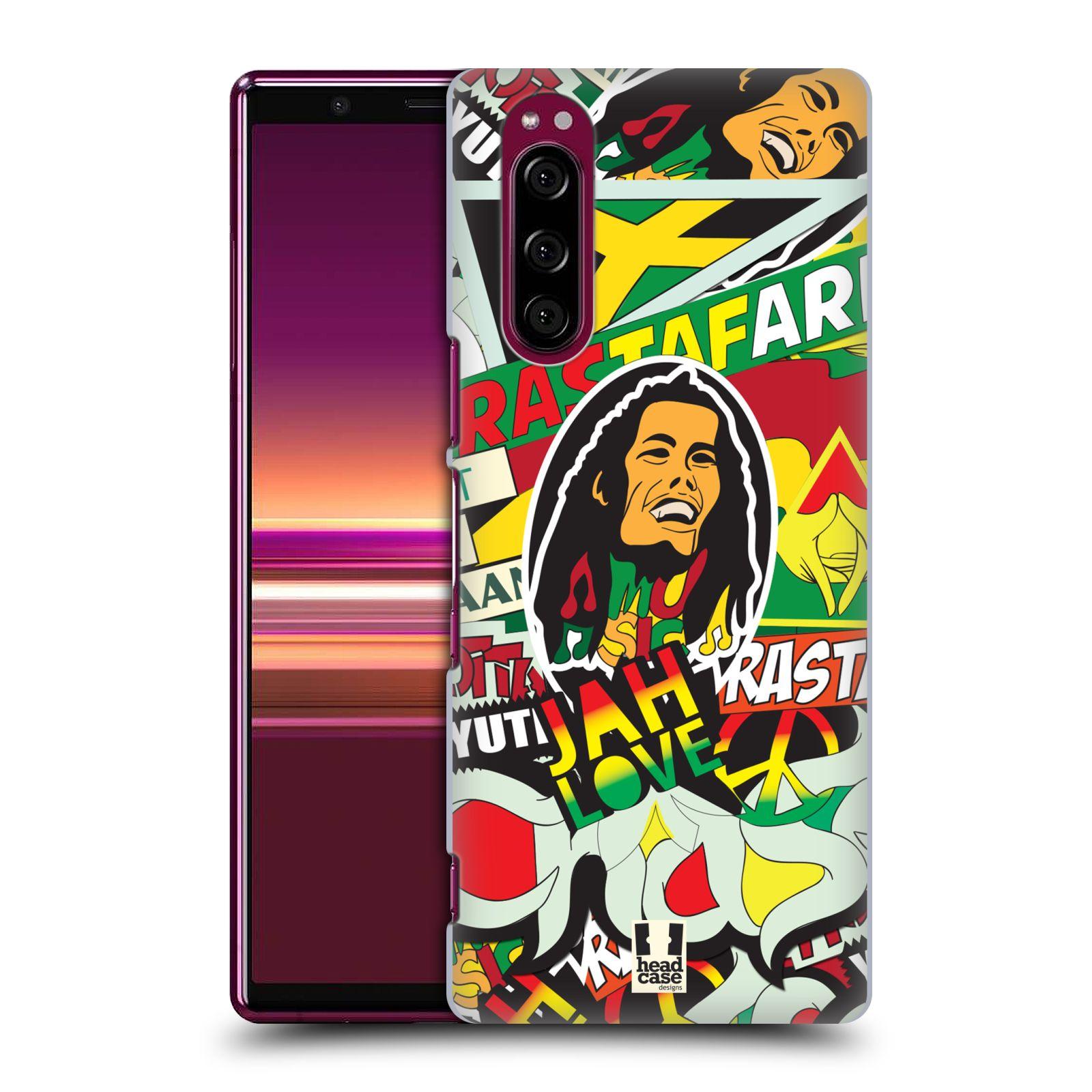 Plastové pouzdro na mobil Sony Xperia 5 - Head Case - RASTA (Plastový kryt, pouzdro, obal na mobilní telefon Sony Xperia 5 Dual SIM (J9210) s motivem RASTA )