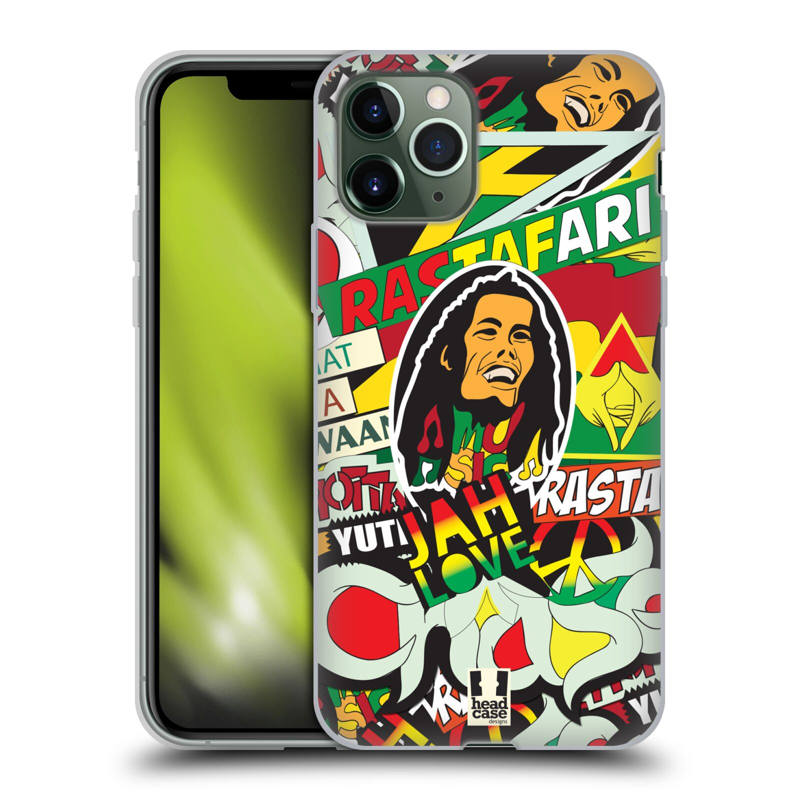 kryt s powerbankou iphone x | Silikonové pouzdro na mobil Apple iPhone 11 Pro - Head Case - RASTA