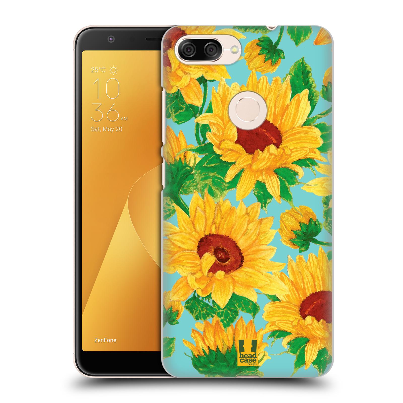 Plastové pouzdro na mobil Asus ZenFone Max Plus (M1) - Head Case - Slunečnice (Plastový kryt či obal na mobilní telefon Asus ZenFone Max Plus M1 ZB570TL s motivem Slunečnice)