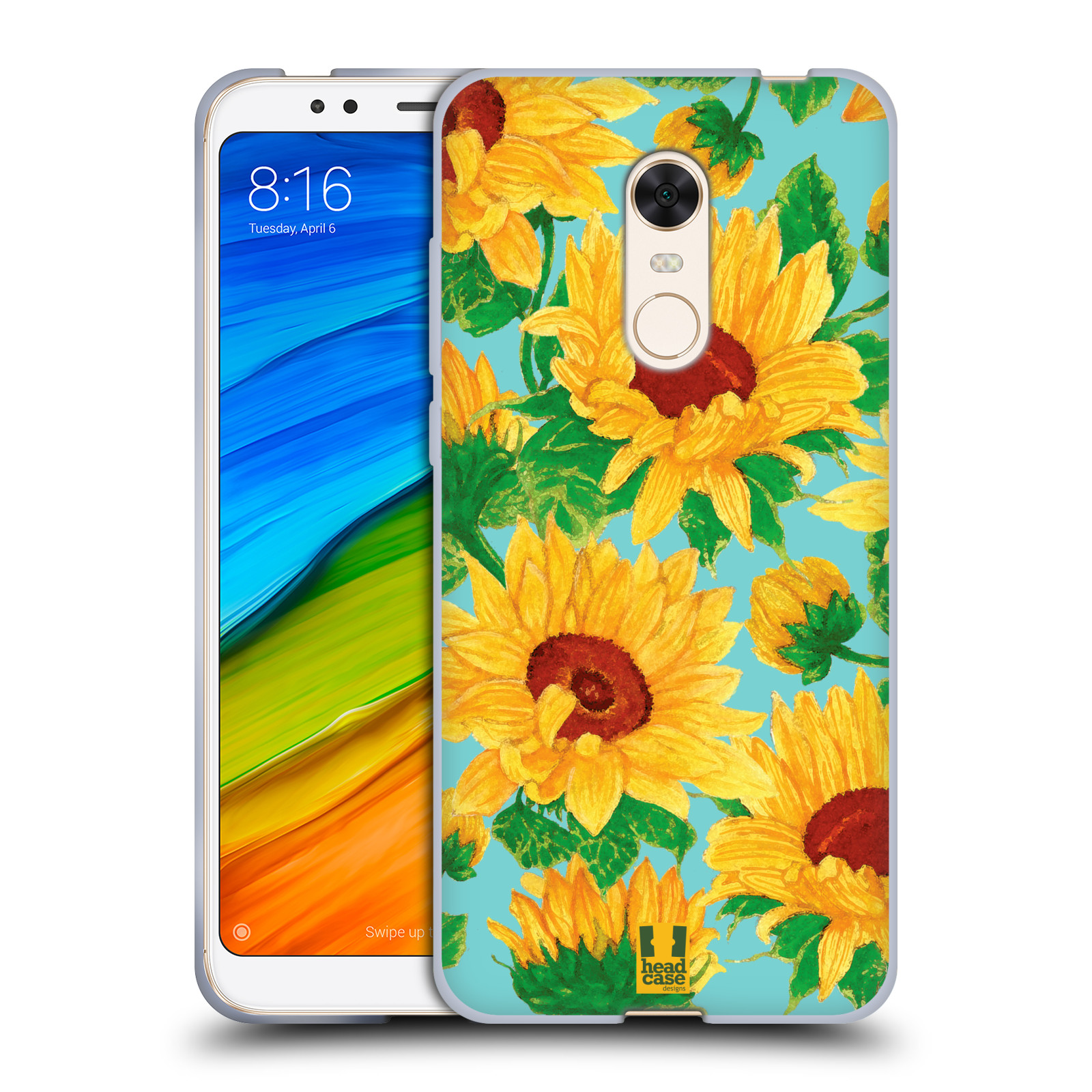 Silikonové pouzdro na mobil Xiaomi Redmi 5 Plus - Head Case - Slunečnice