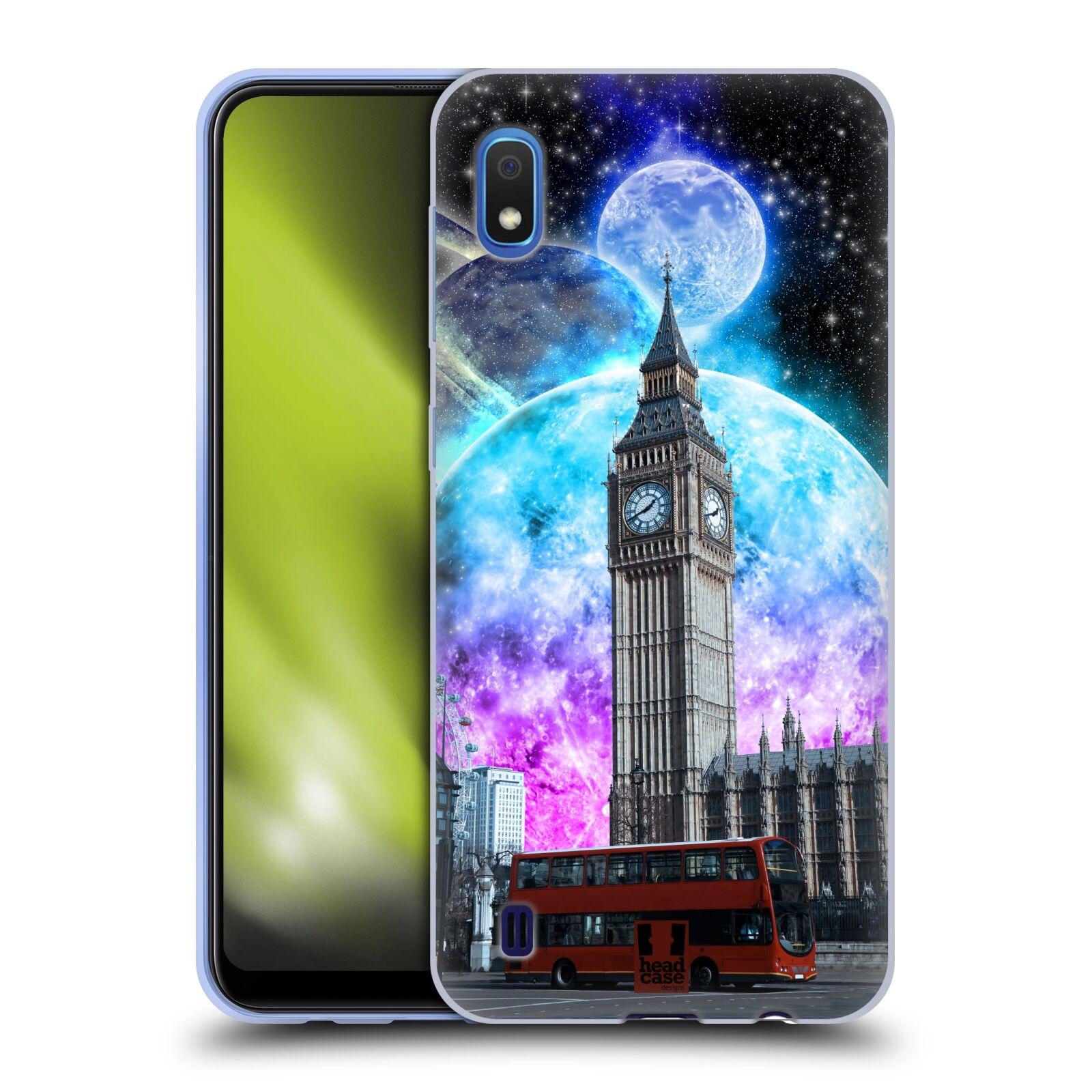 Silikonové pouzdro na mobil Samsung Galaxy A10 - Head Case - Měsíční Londýn