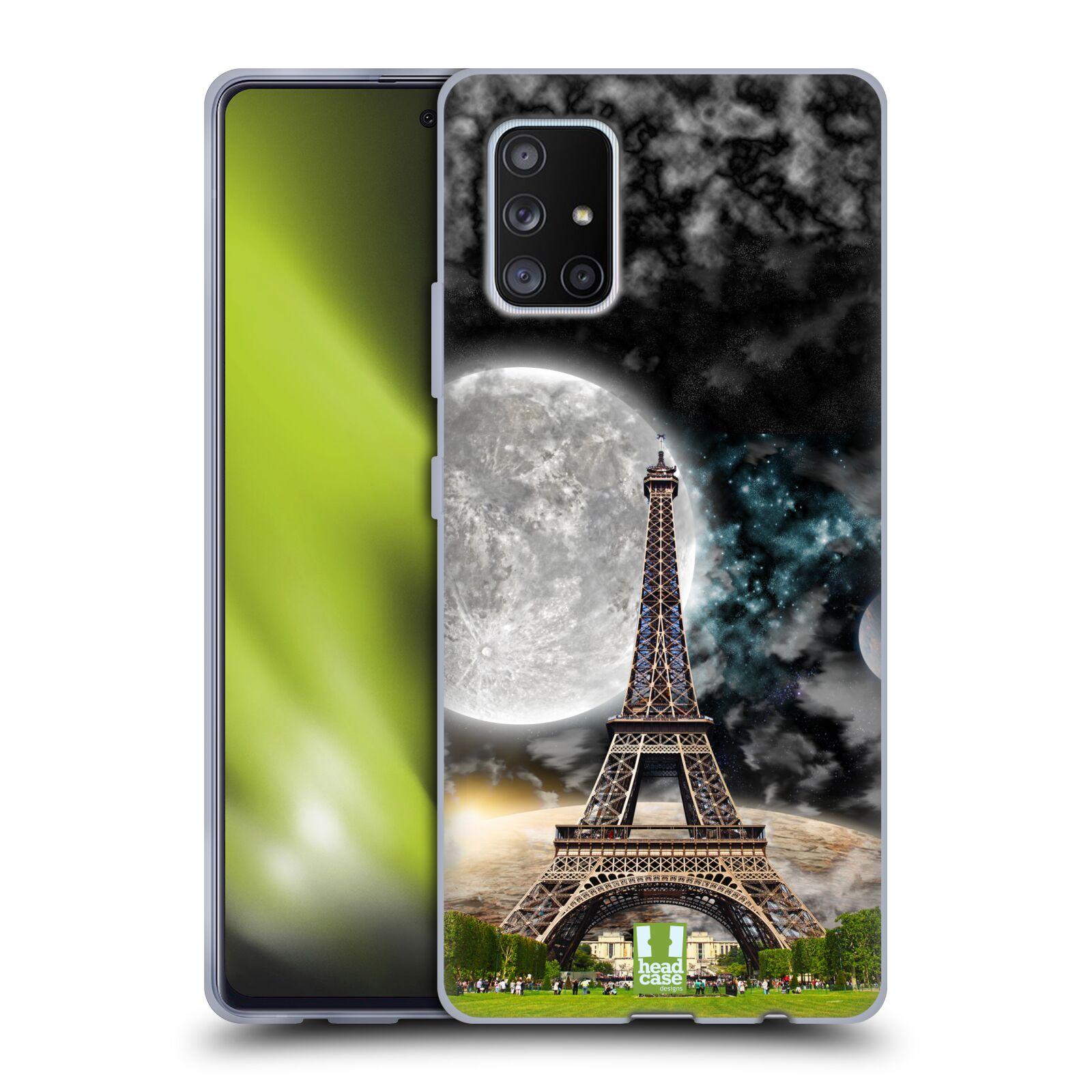 Silikonové pouzdro na mobil Samsung Galaxy A51 5G - Head Case - Měsíční aifelovka - trošku škrábllý potisk