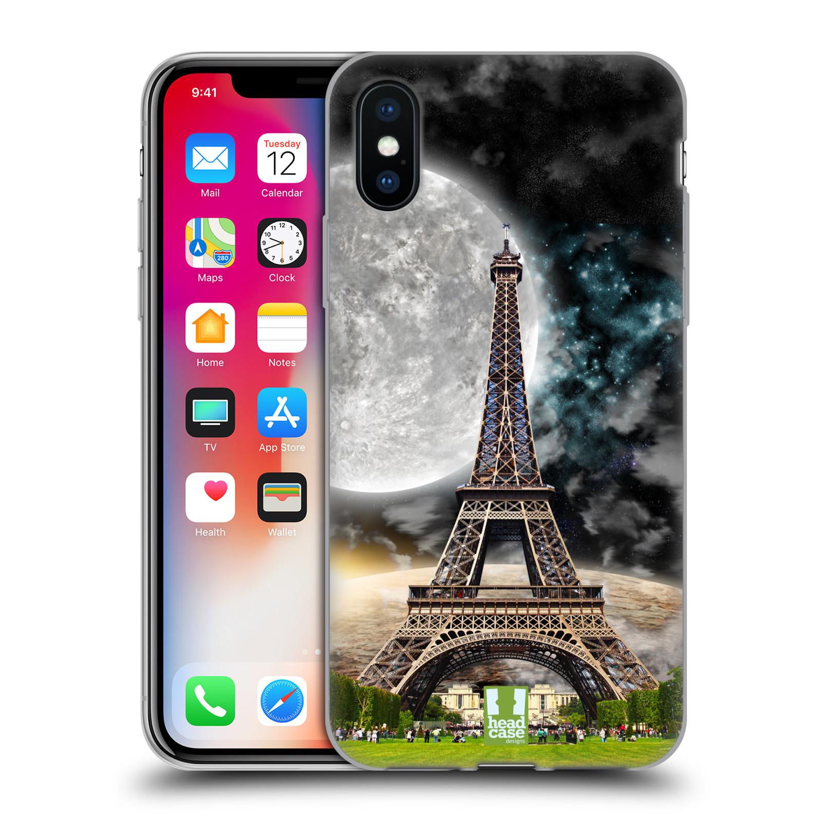 Silikonové pouzdro na mobil Apple iPhone XS - Head Case - Měsíční aifelovka