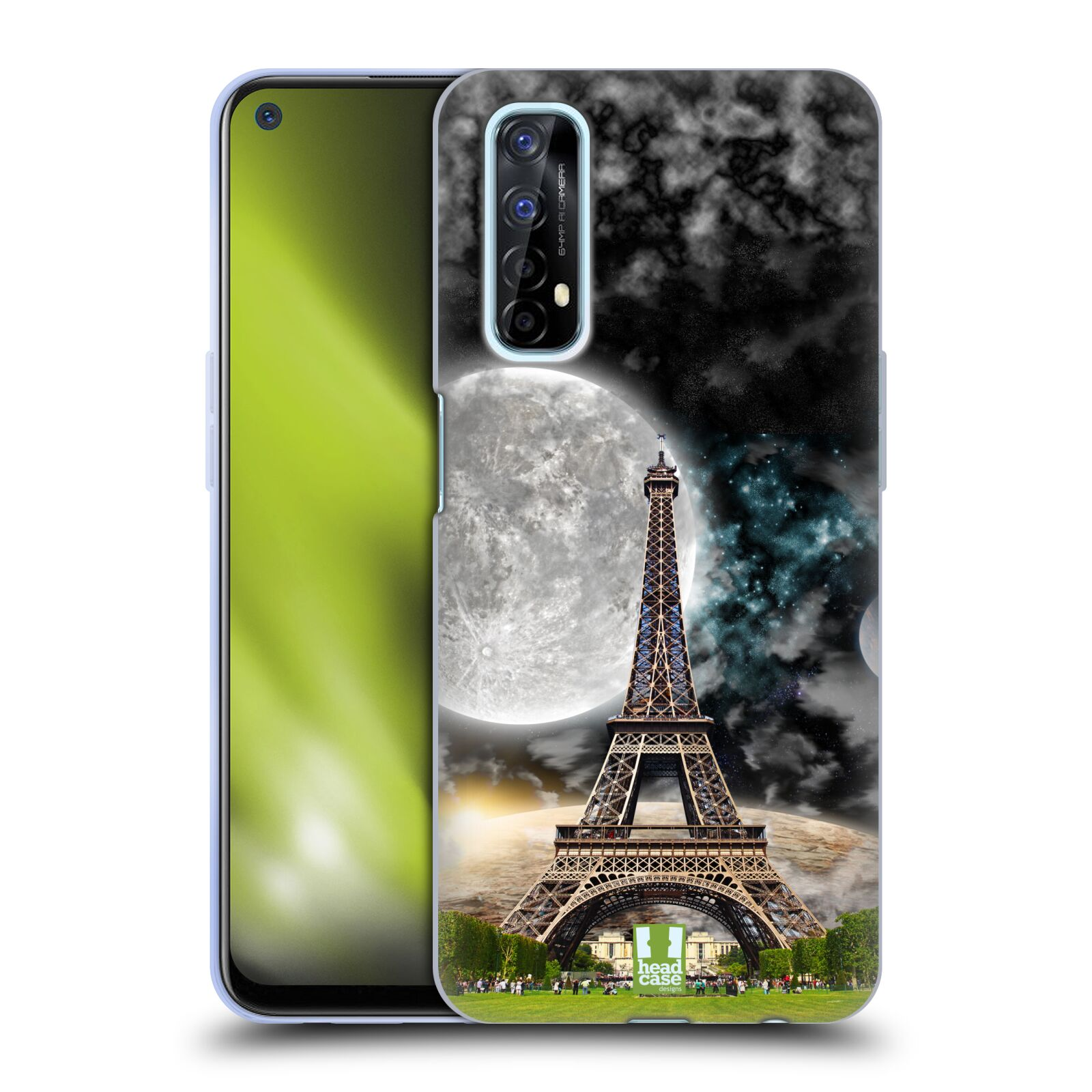 Silikonové pouzdro na mobil Realme 7 - Head Case - Měsíční aifelovka
