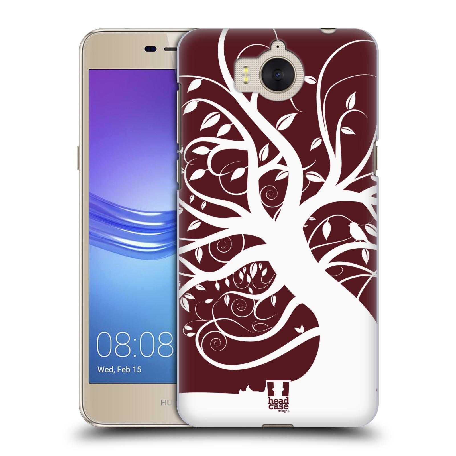 Plastové pouzdro na mobil Huawei Y6 2017 - Head Case - SPLETITÝ STROM RUDÝ