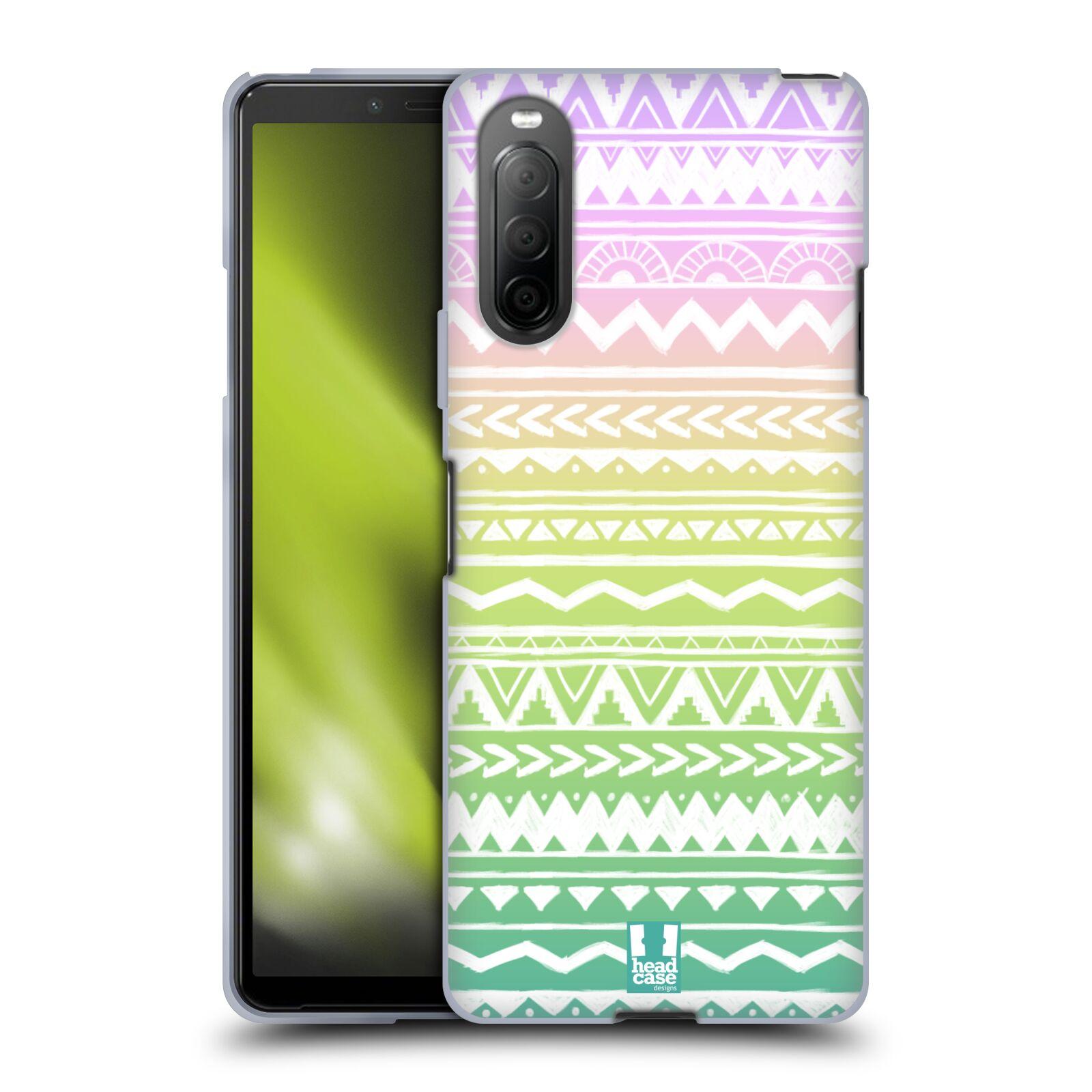 Silikonové pouzdro na mobil Sony Xperia 10 II - Head Case - MIX AZTEC DRAWN