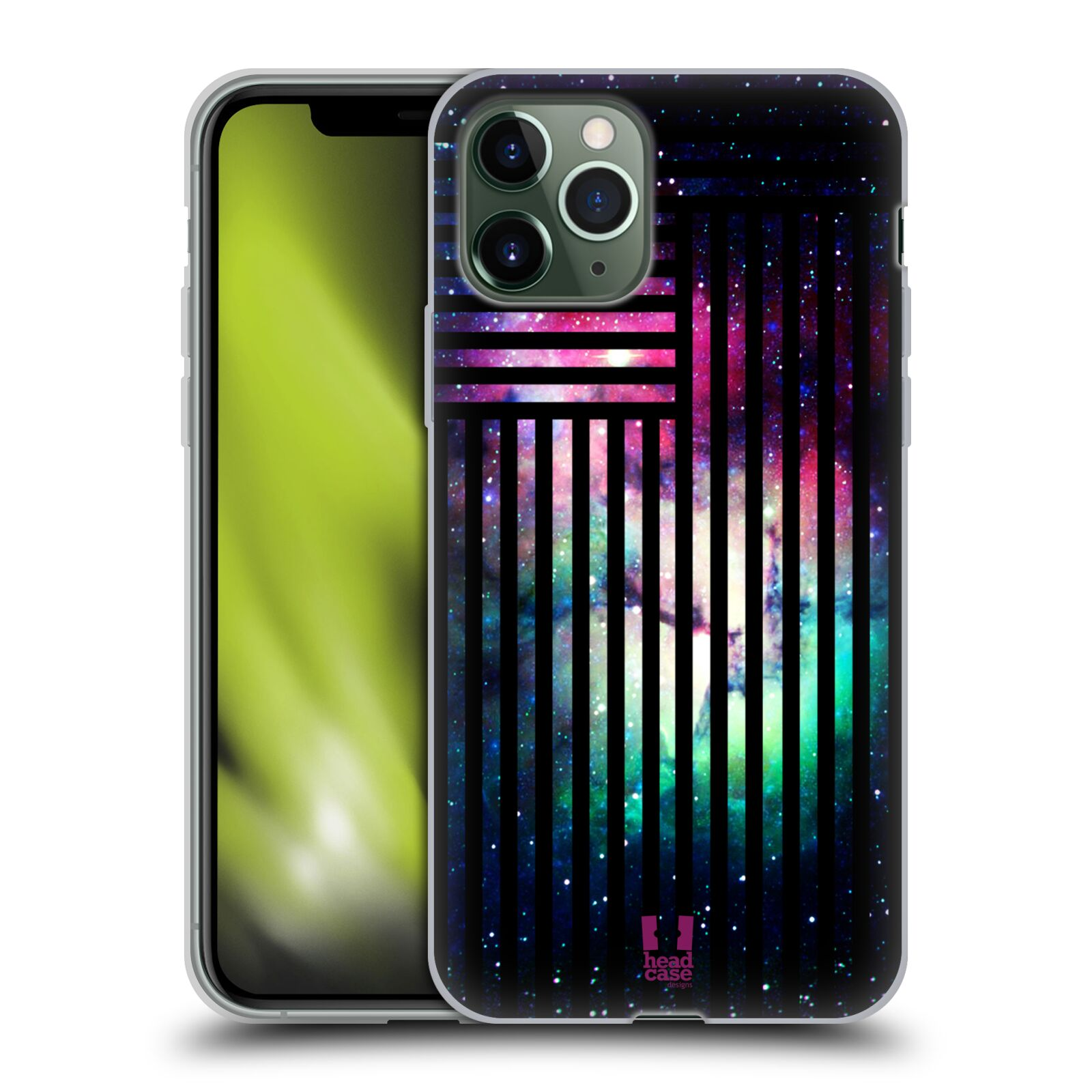 gumový obaly iphone 11 | Silikonové pouzdro na mobil Apple iPhone 11 Pro - Head Case - MIX NEBULA STRIPES