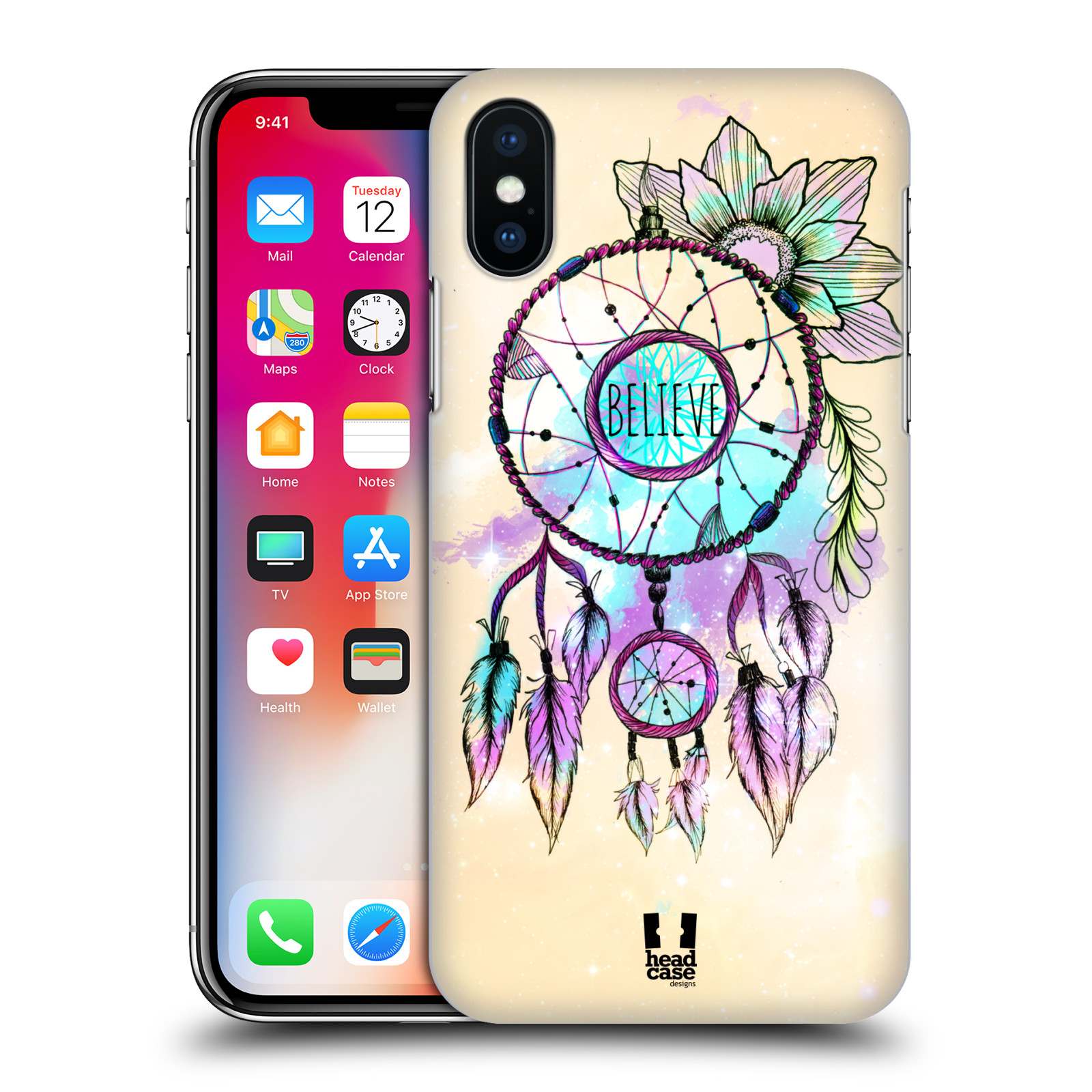 Plastové pouzdro na mobil Apple iPhone XS - Head Case - MIX BELIEVE