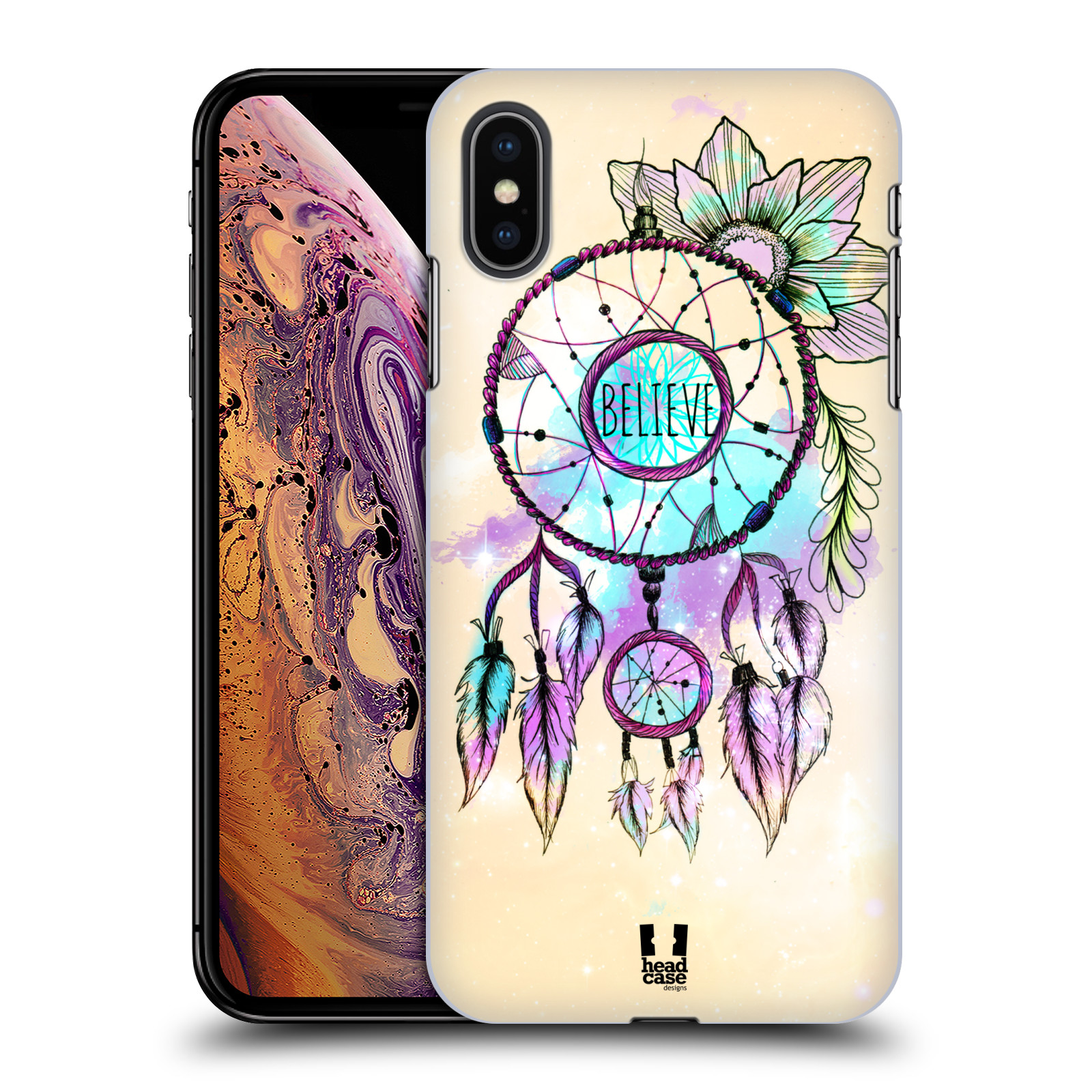 Plastové pouzdro na mobil Apple iPhone XS Max - Head Case - MIX BELIEVE