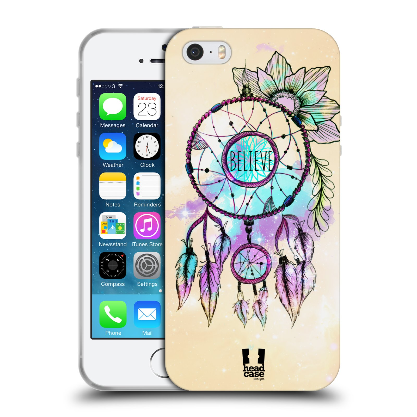 Silikonové pouzdro na mobil Apple iPhone 5, 5S, SE - Head Case - MIX BELIEVE