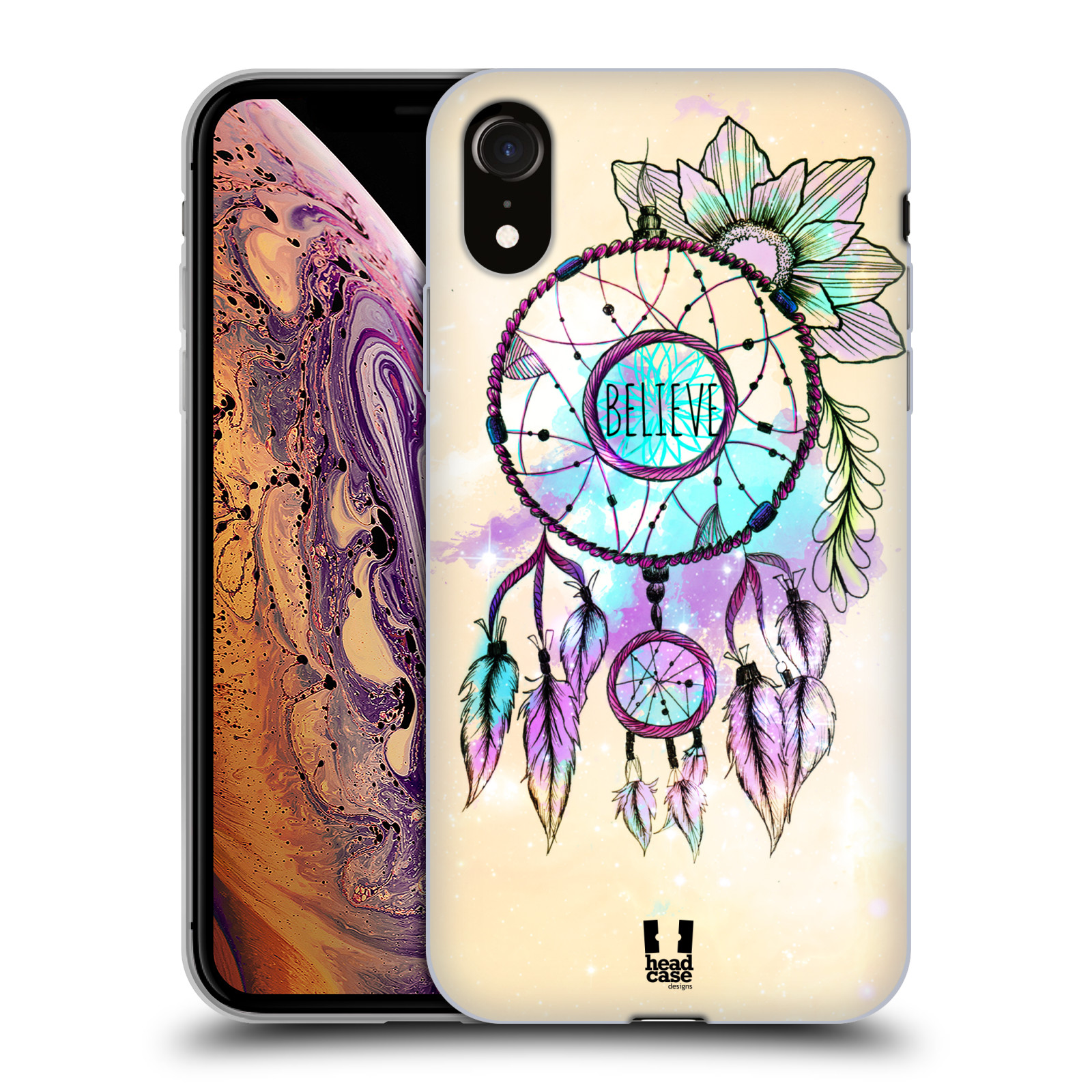 Silikonové pouzdro na mobil Apple iPhone XR - Head Case - MIX BELIEVE