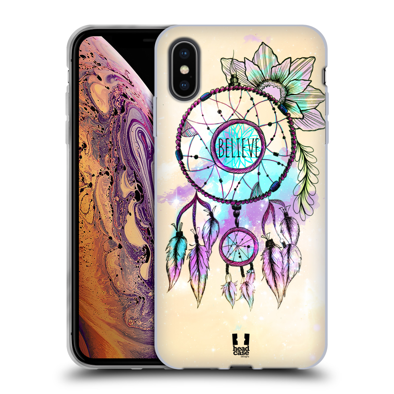 Silikonové pouzdro na mobil Apple iPhone XS Max - Head Case - MIX BELIEVE