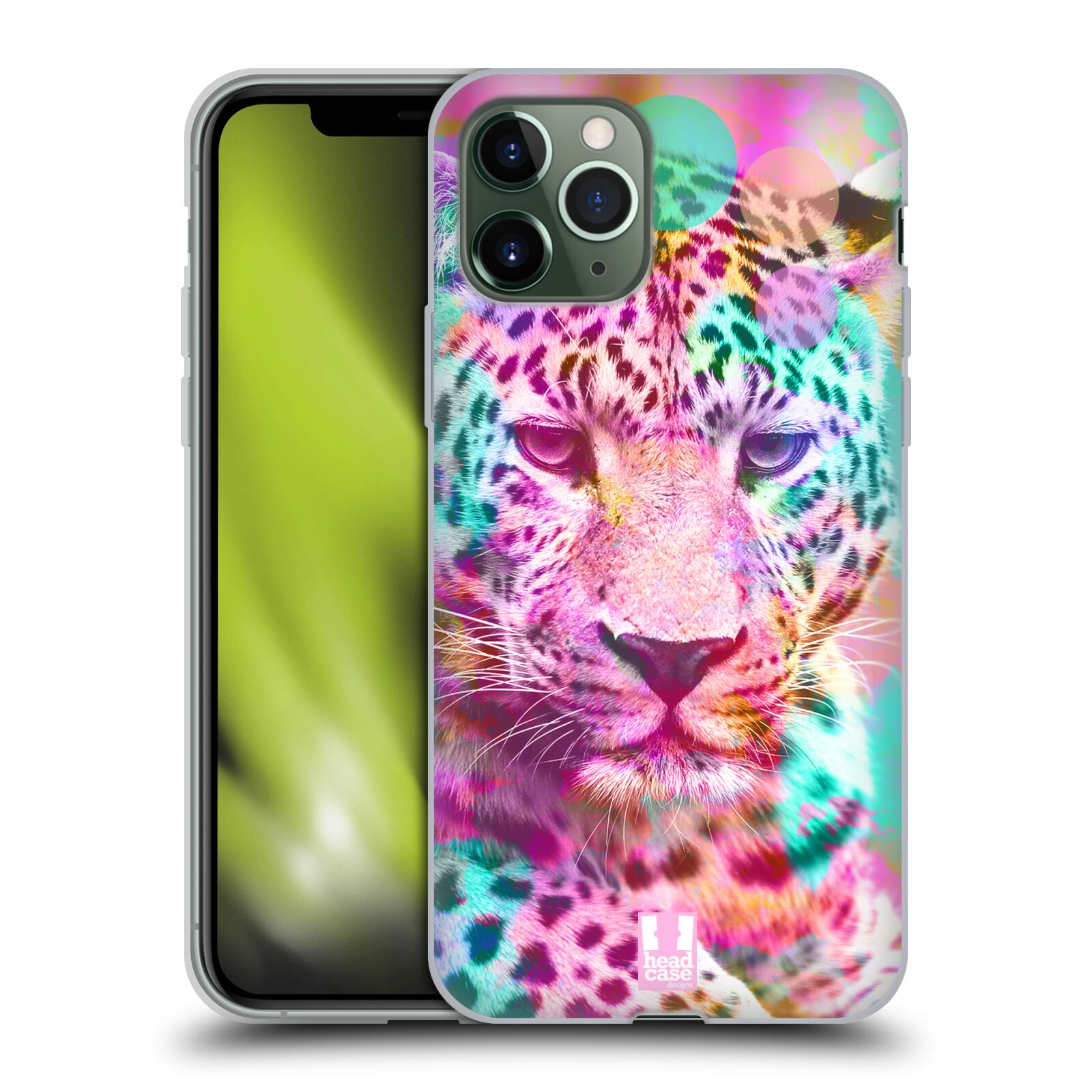 apple iphone 8 kryt - Silikonové pouzdro na mobil Apple iPhone 11 Pro - Head Case - MIX LEOPARD
