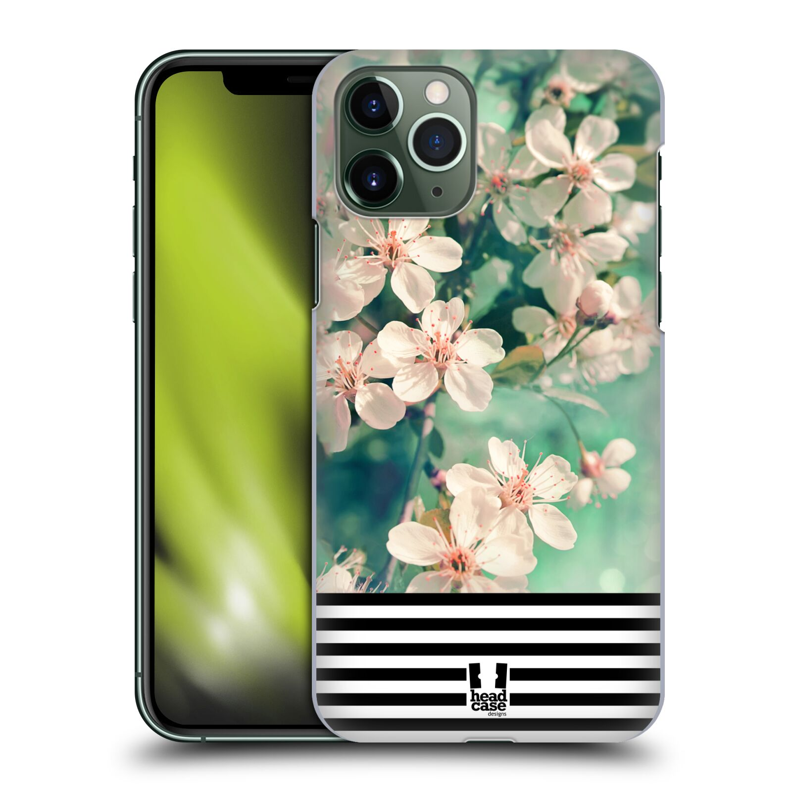 kryt na iphone 8 cerny , Plastové pouzdro na mobil Apple iPhone 11 Pro - Head Case - MIX FLORAL STRIPES