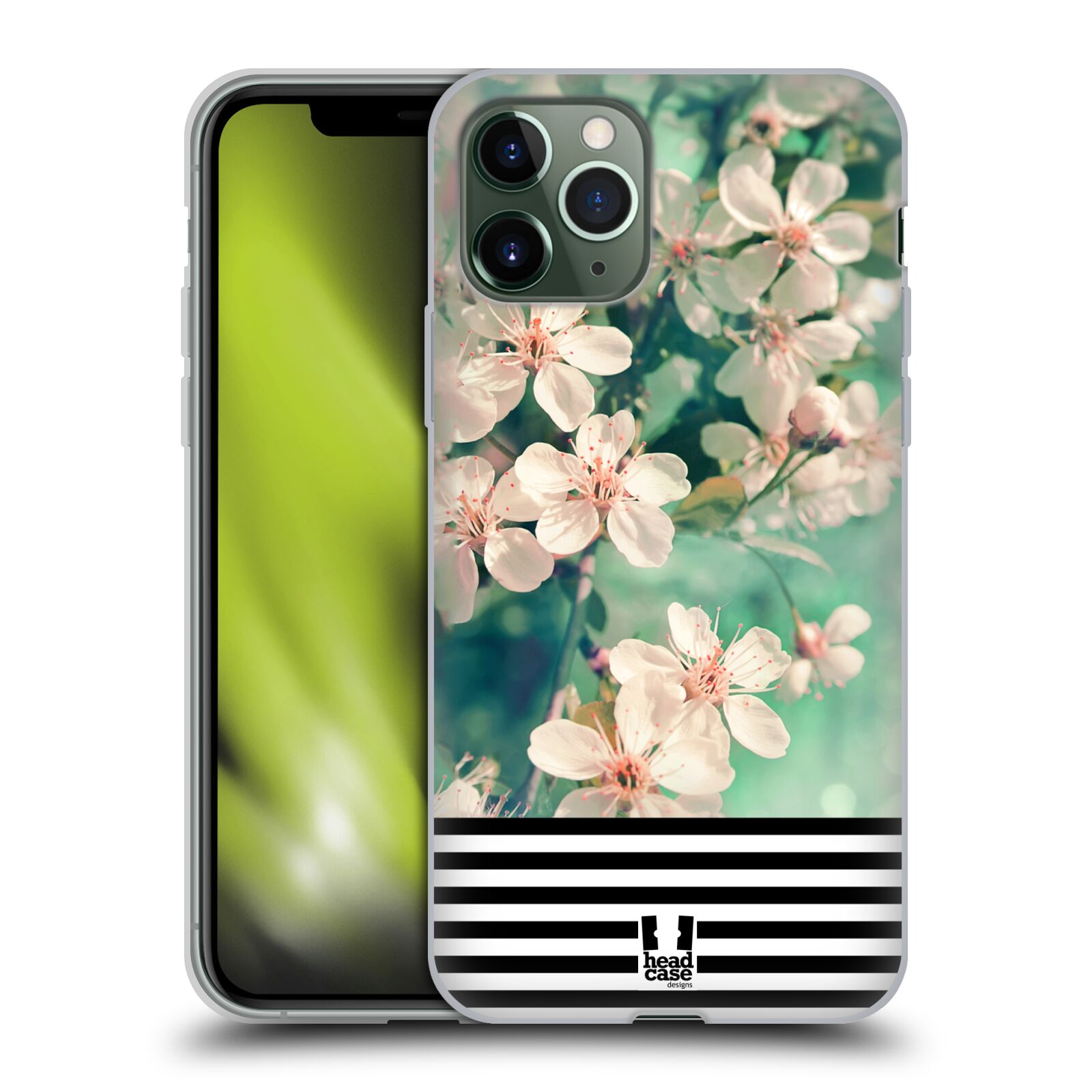kryt s powerbankou iphone x | Silikonové pouzdro na mobil Apple iPhone 11 Pro - Head Case - MIX FLORAL STRIPES