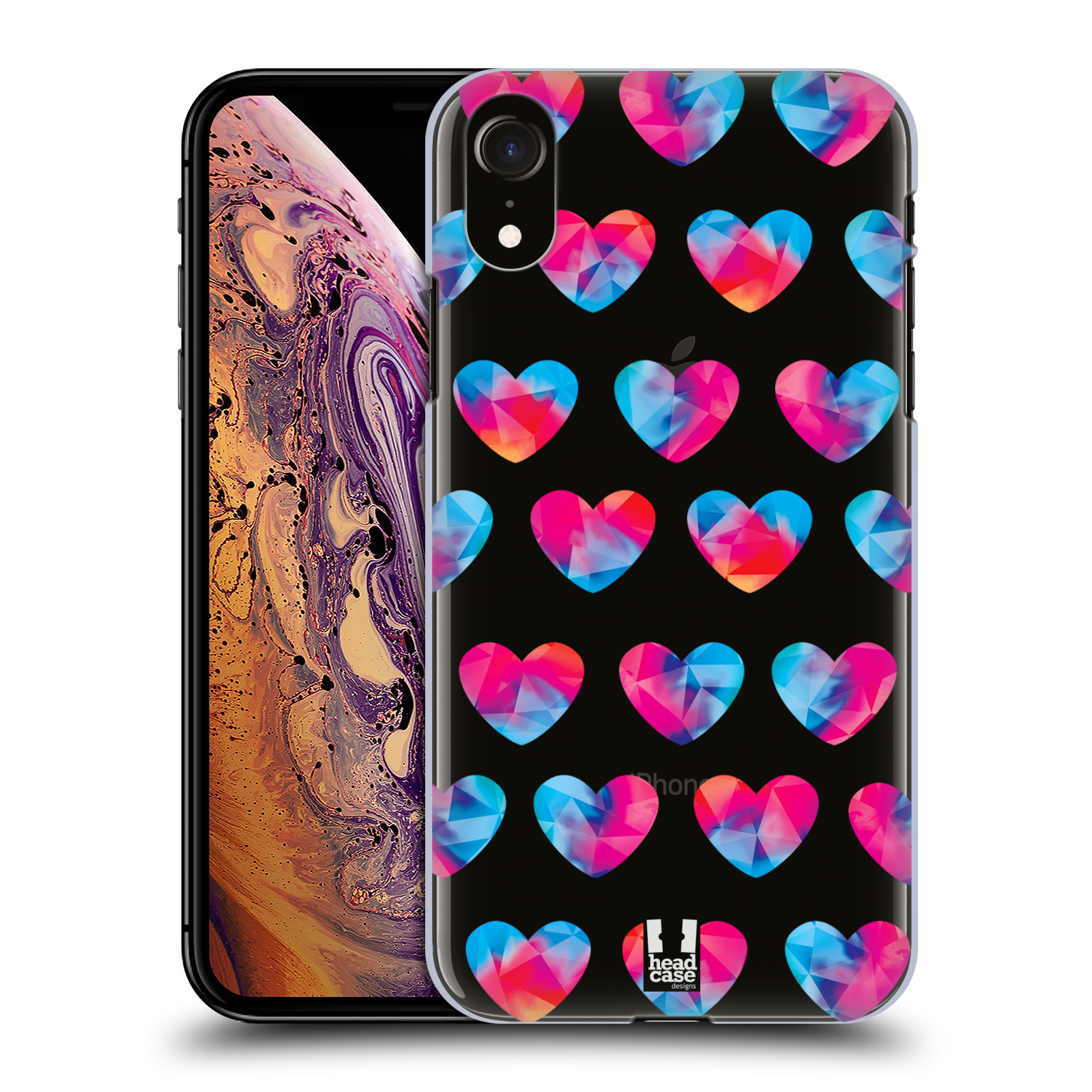 Plastové pouzdro na mobil Apple iPhone XR - Head Case - Srdíčka hrající barvami