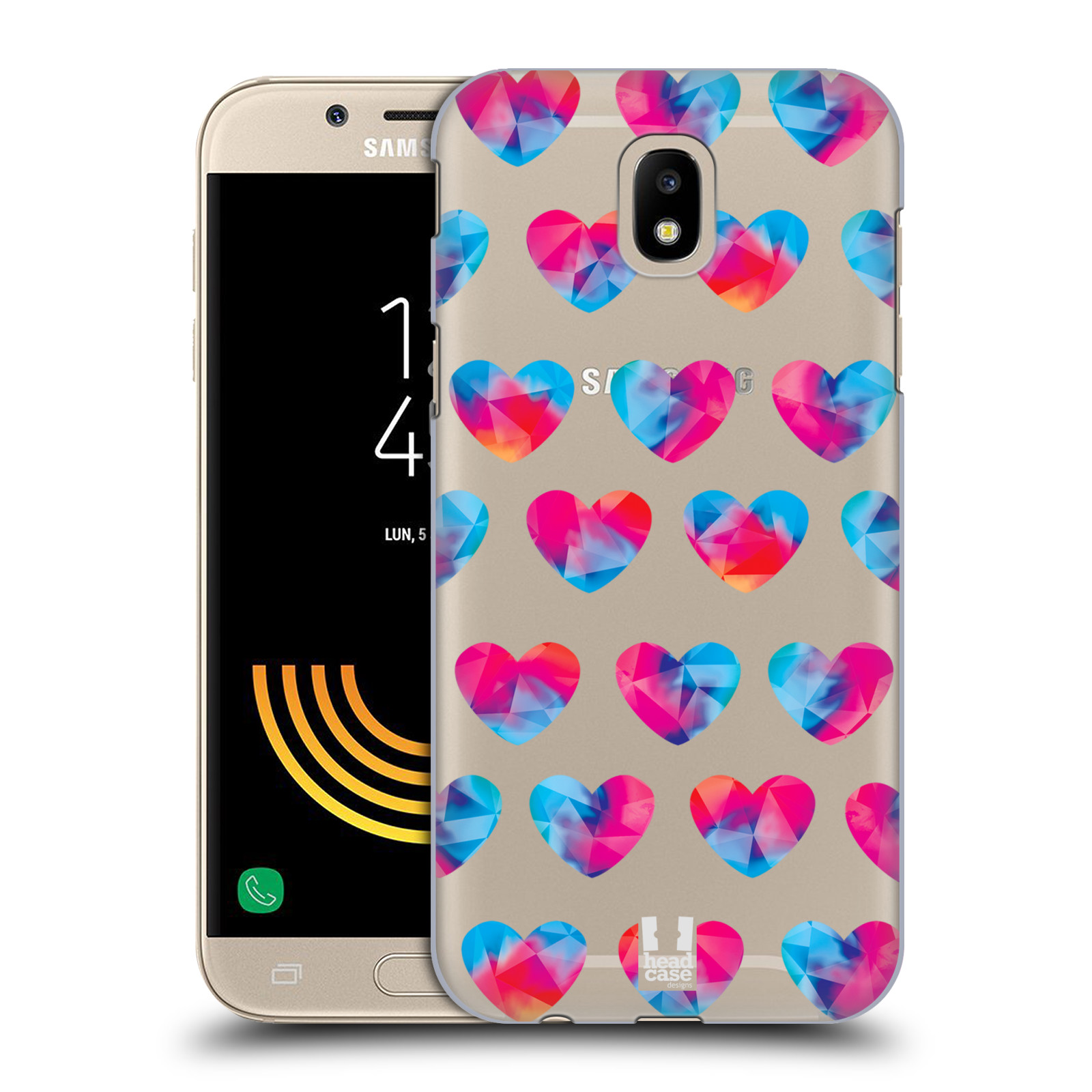 Plastové pouzdro na mobil Samsung Galaxy J5 (2017) - Head Case - Srdíčka hrající barvami