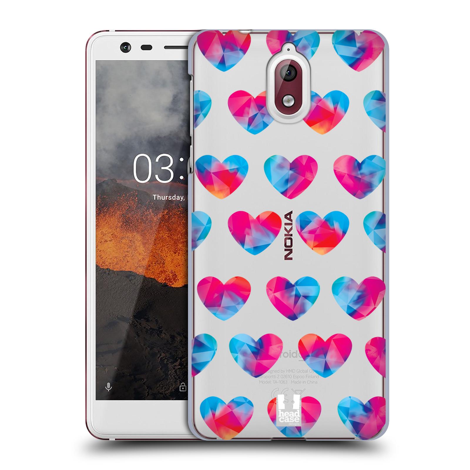 Plastové pouzdro na mobil Nokia 3.1 - Head Case - Srdíčka hrající barvami