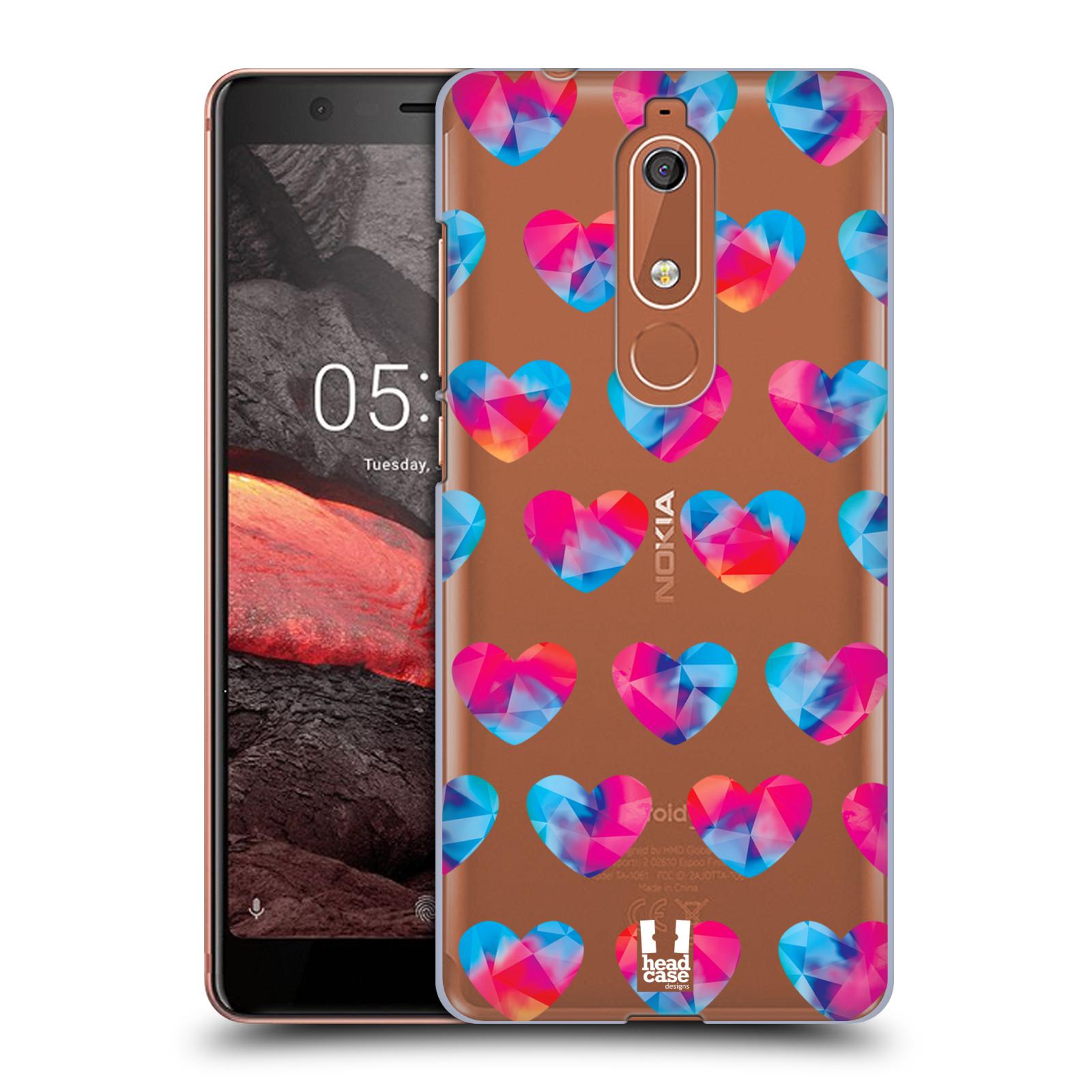 Plastové pouzdro na mobil Nokia 5.1 - Head Case - Srdíčka hrající barvami