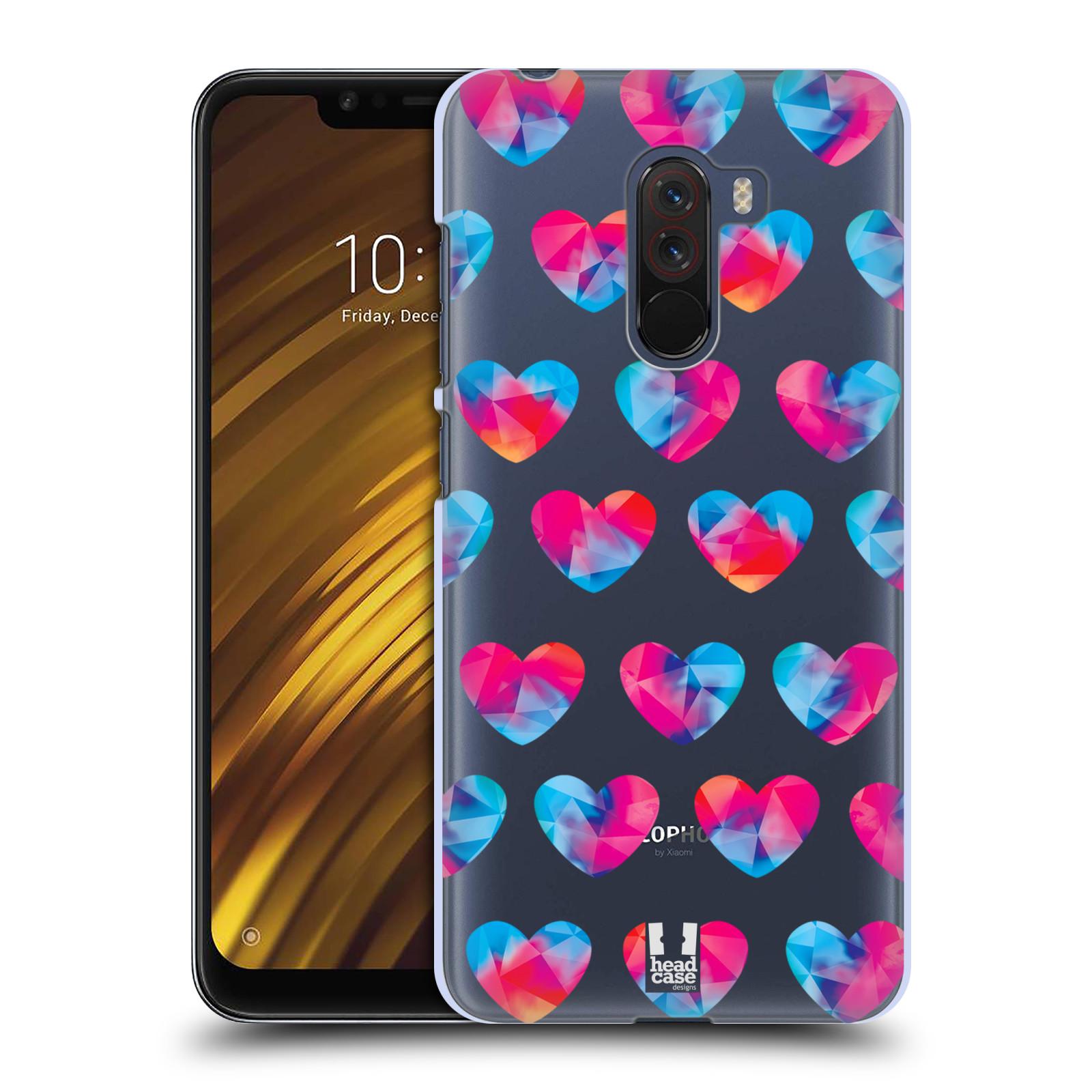 Plastové pouzdro na mobil Xiaomi Pocophone F1 - Head Case - Srdíčka hrající barvami