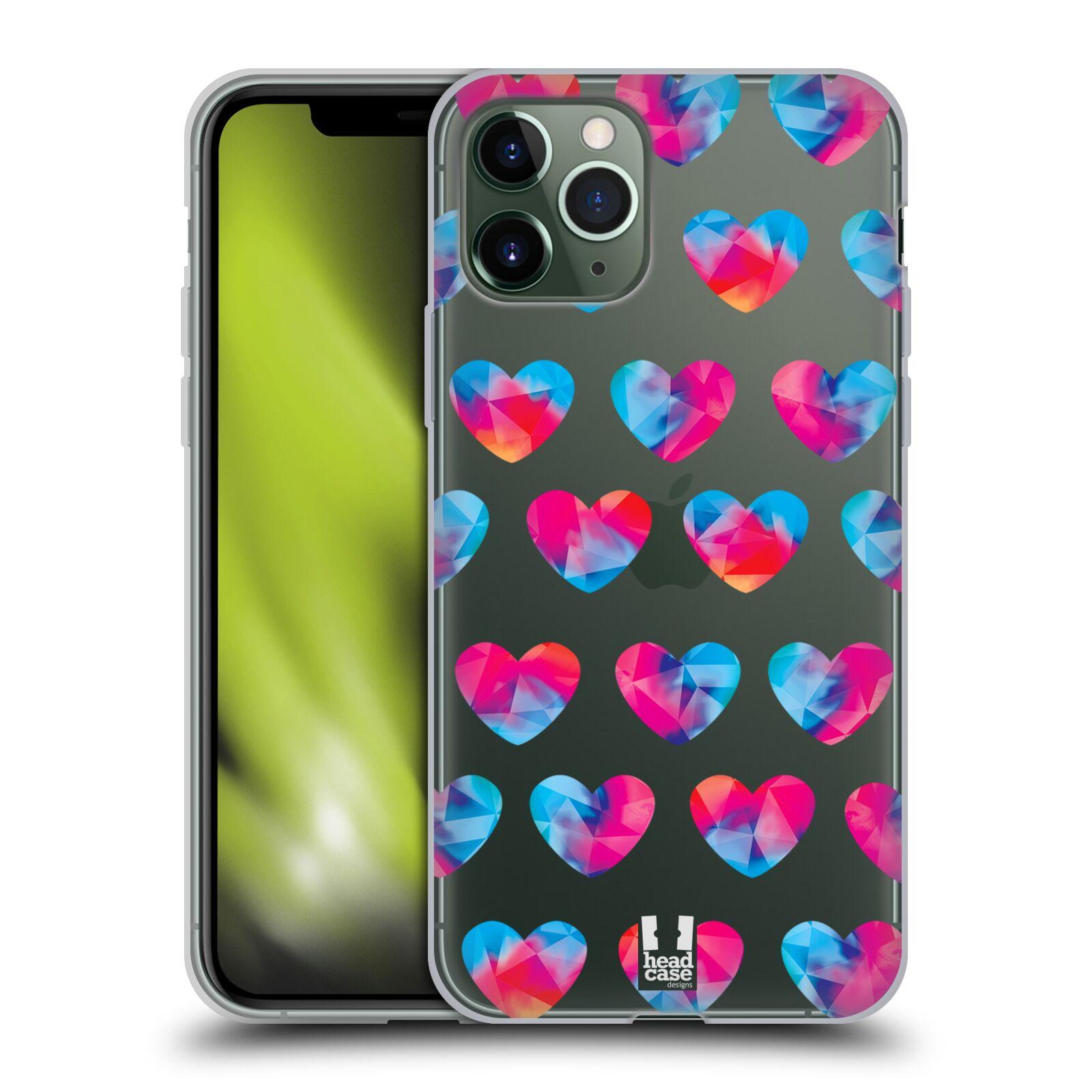 guess pouzdro iphone 8 plus - Silikonové pouzdro na mobil Apple iPhone 11 Pro - Head Case - Srdíčka hrající barvami