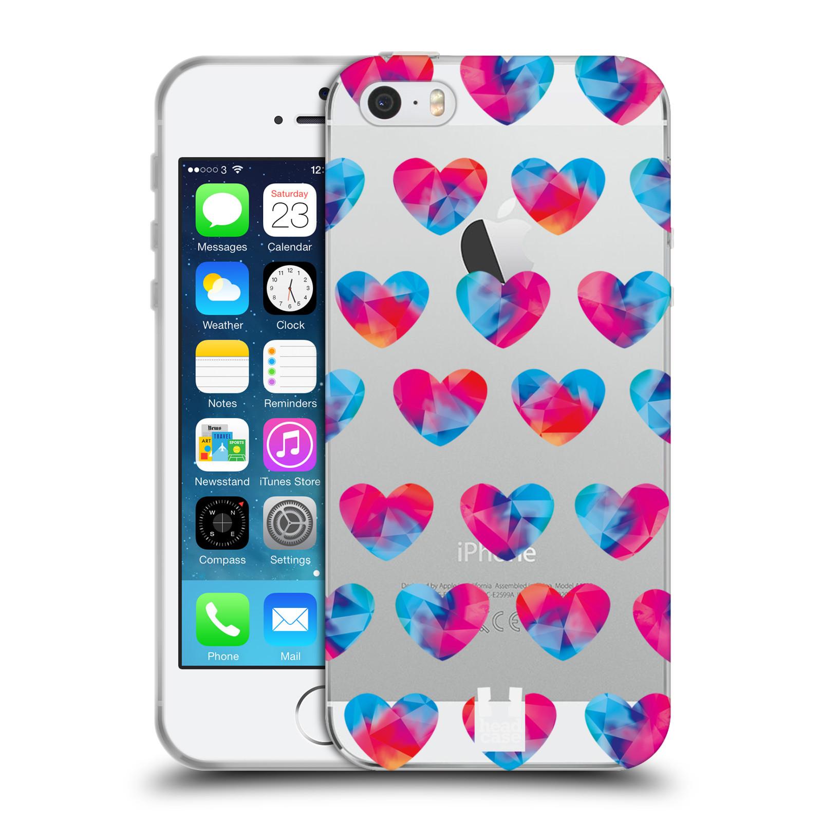 Silikonové pouzdro na mobil Apple iPhone 5, 5S, SE - Head Case - Srdíčka hrající barvami