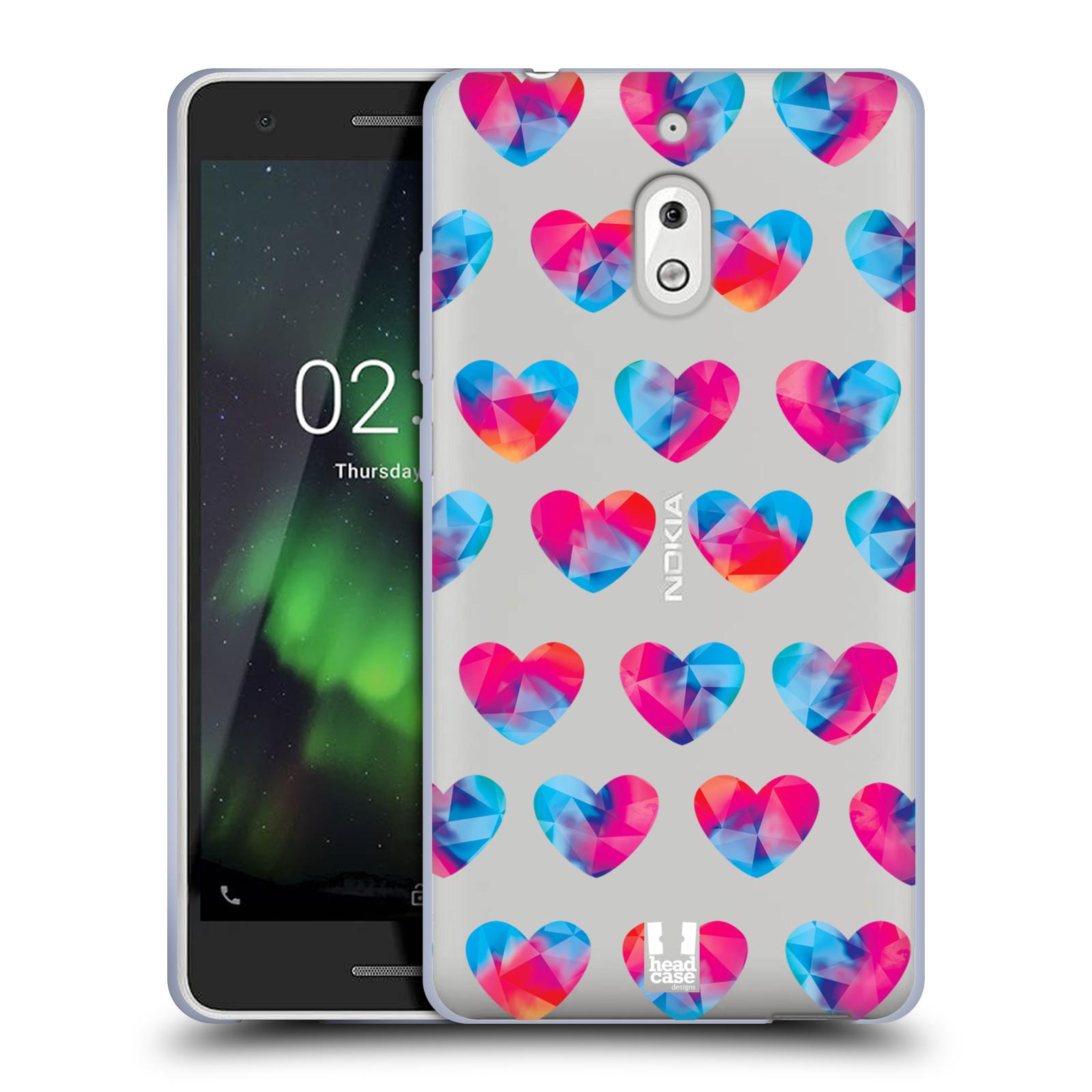 Silikonové pouzdro na mobil Nokia 2.1 - Head Case - Srdíčka hrající barvami