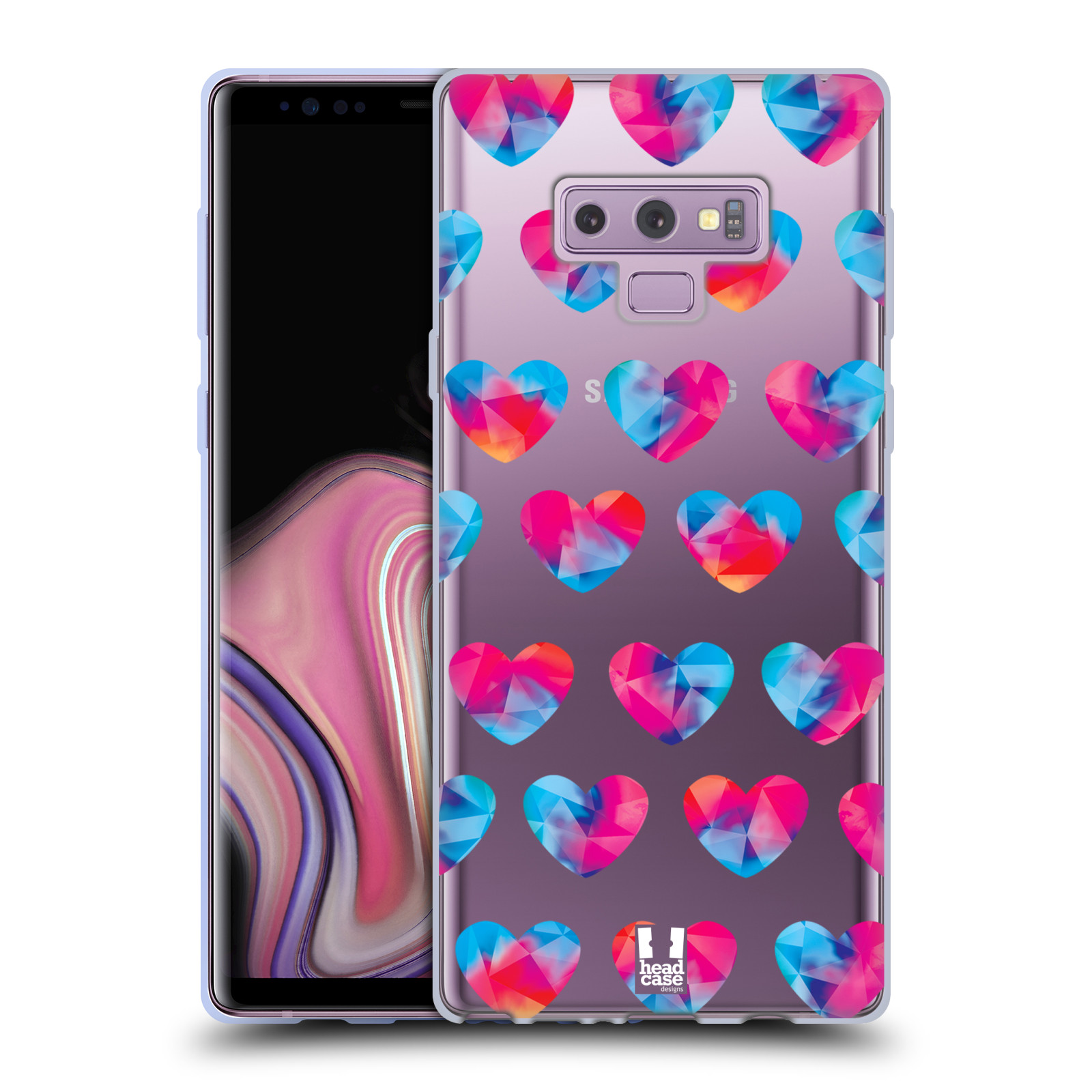 Silikonové pouzdro na mobil Samsung Galaxy Note 9 - Head Case - Srdíčka hrající barvami