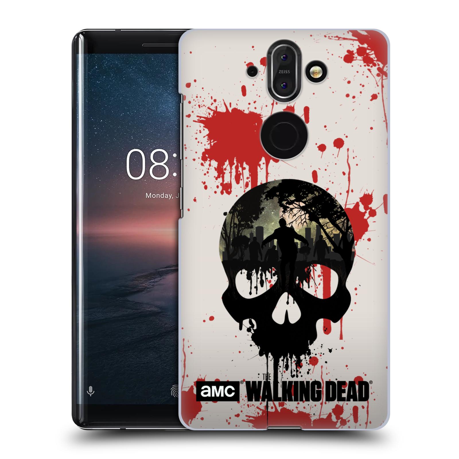 Plastové pouzdro na mobil Nokia 8 Sirocco - Head Case - Živí mrtví - Lebka