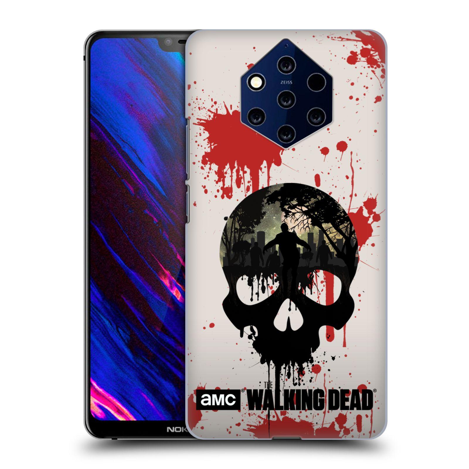 Plastové pouzdro na mobil Nokia 9 PureView - Head Case - Živí mrtví - Lebka