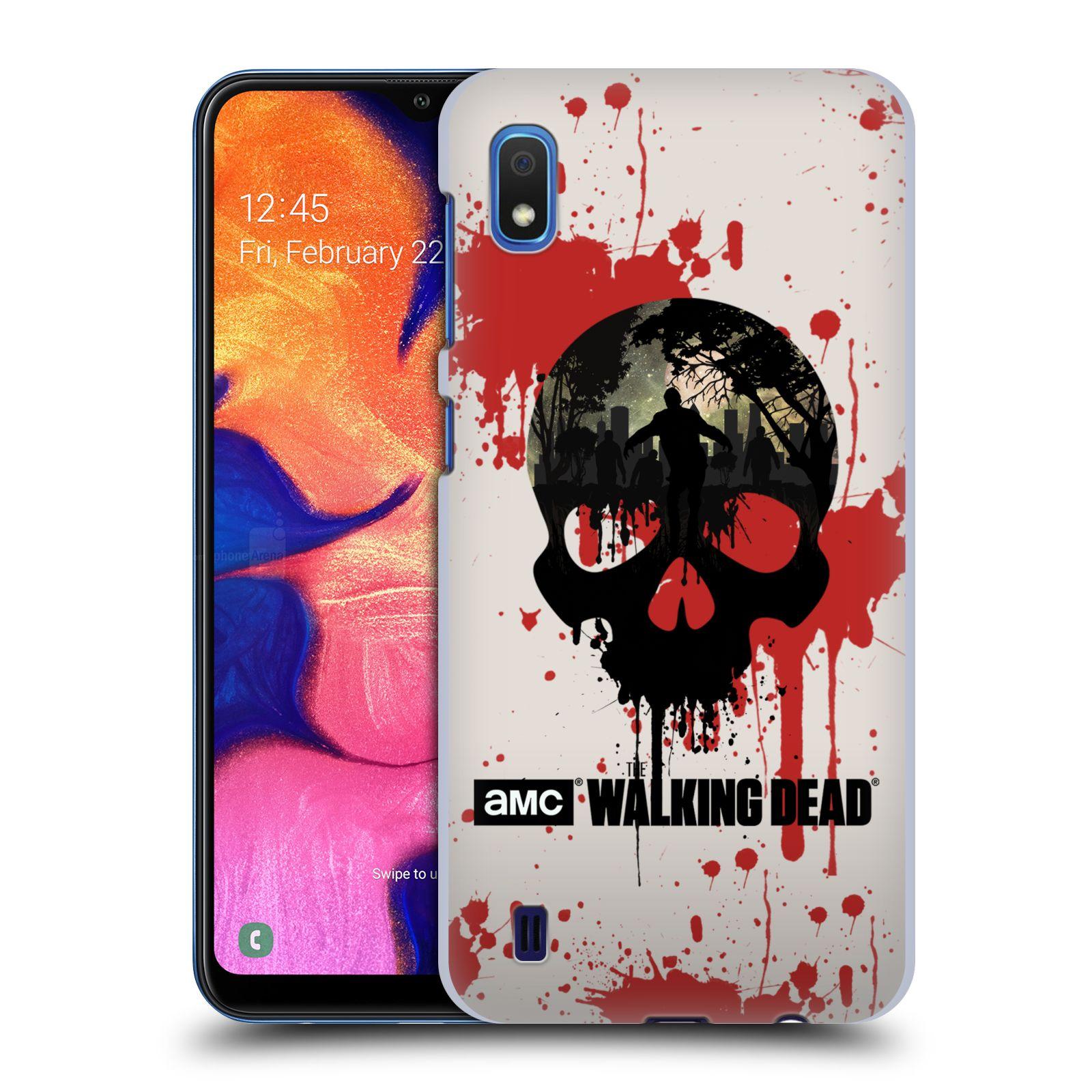 Plastové pouzdro na mobil Samsung Galaxy A10 - Head Case - Živí mrtví - Lebka