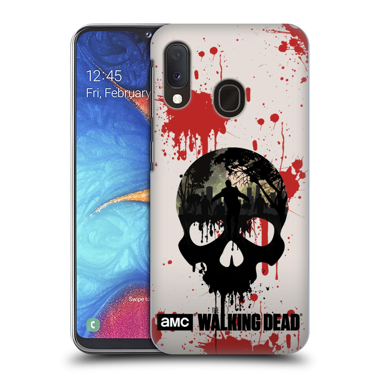 Plastové pouzdro na mobil Samsung Galaxy A20e - Head Case - Živí mrtví - Lebka