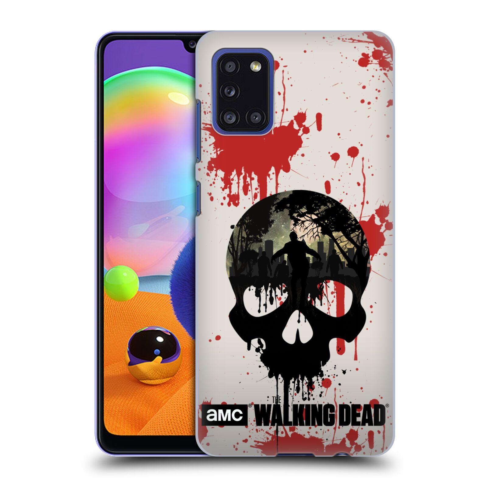 Plastové pouzdro na mobil Samsung Galaxy A31 - Head Case - Živí mrtví - Lebka