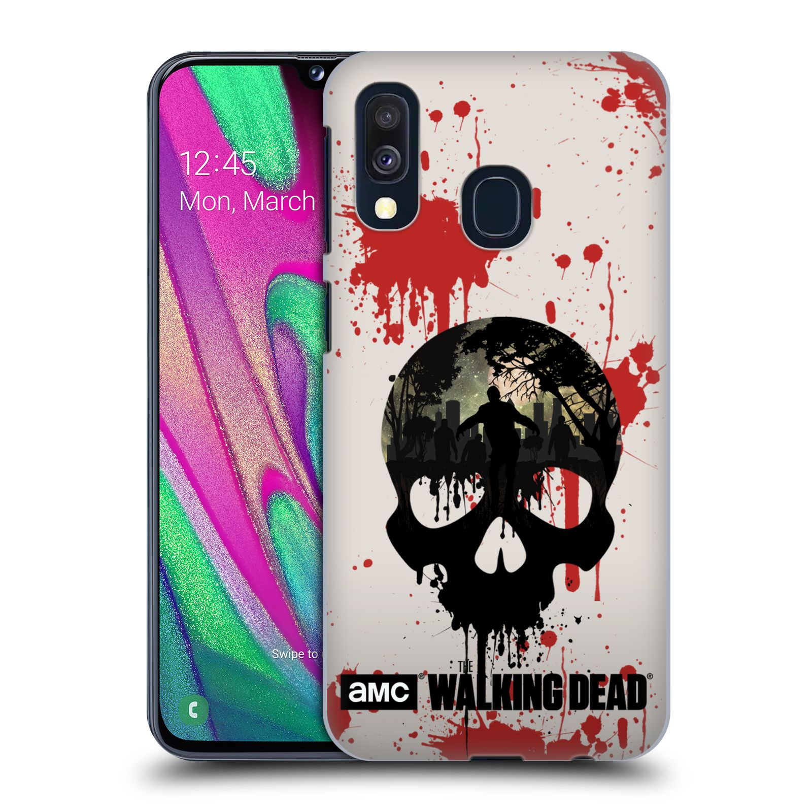 Plastové pouzdro na mobil Samsung Galaxy A40 - Head Case - Živí mrtví - Lebka