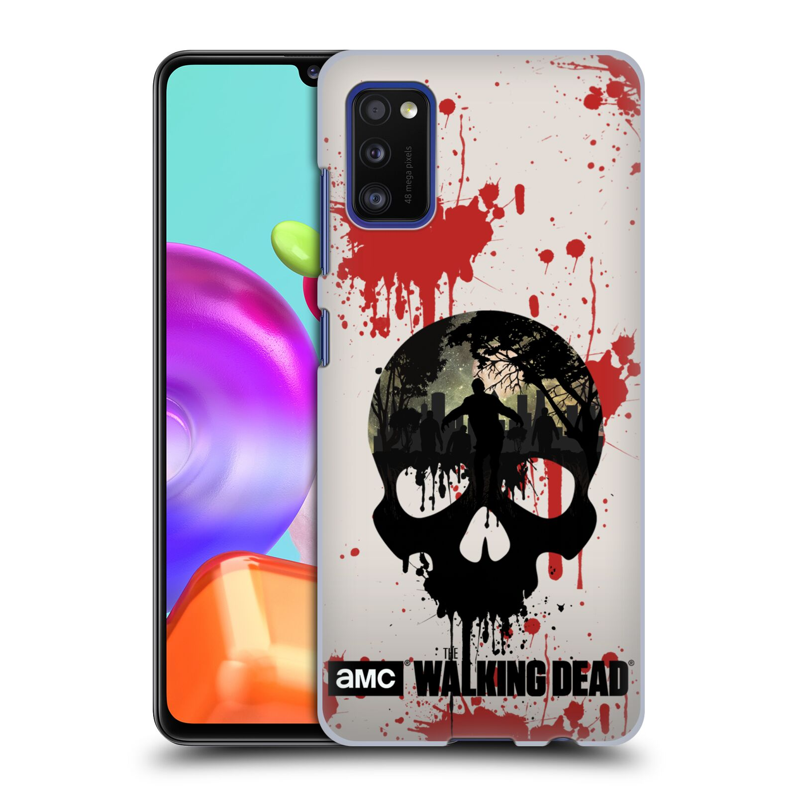 Plastové pouzdro na mobil Samsung Galaxy A41 - Head Case - Živí mrtví - Lebka