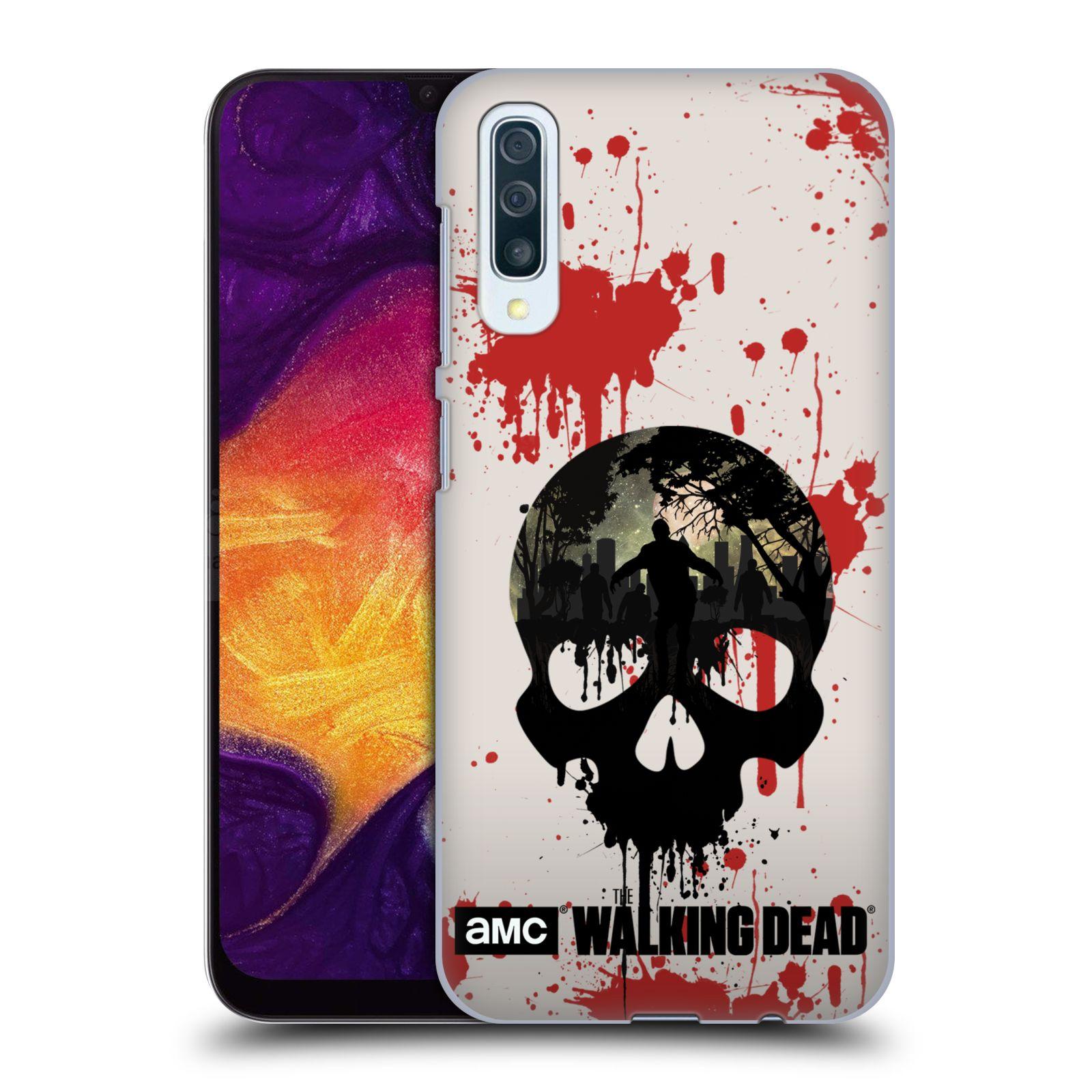 Plastové pouzdro na mobil Samsung Galaxy A50 - Head Case - Živí mrtví - Lebka