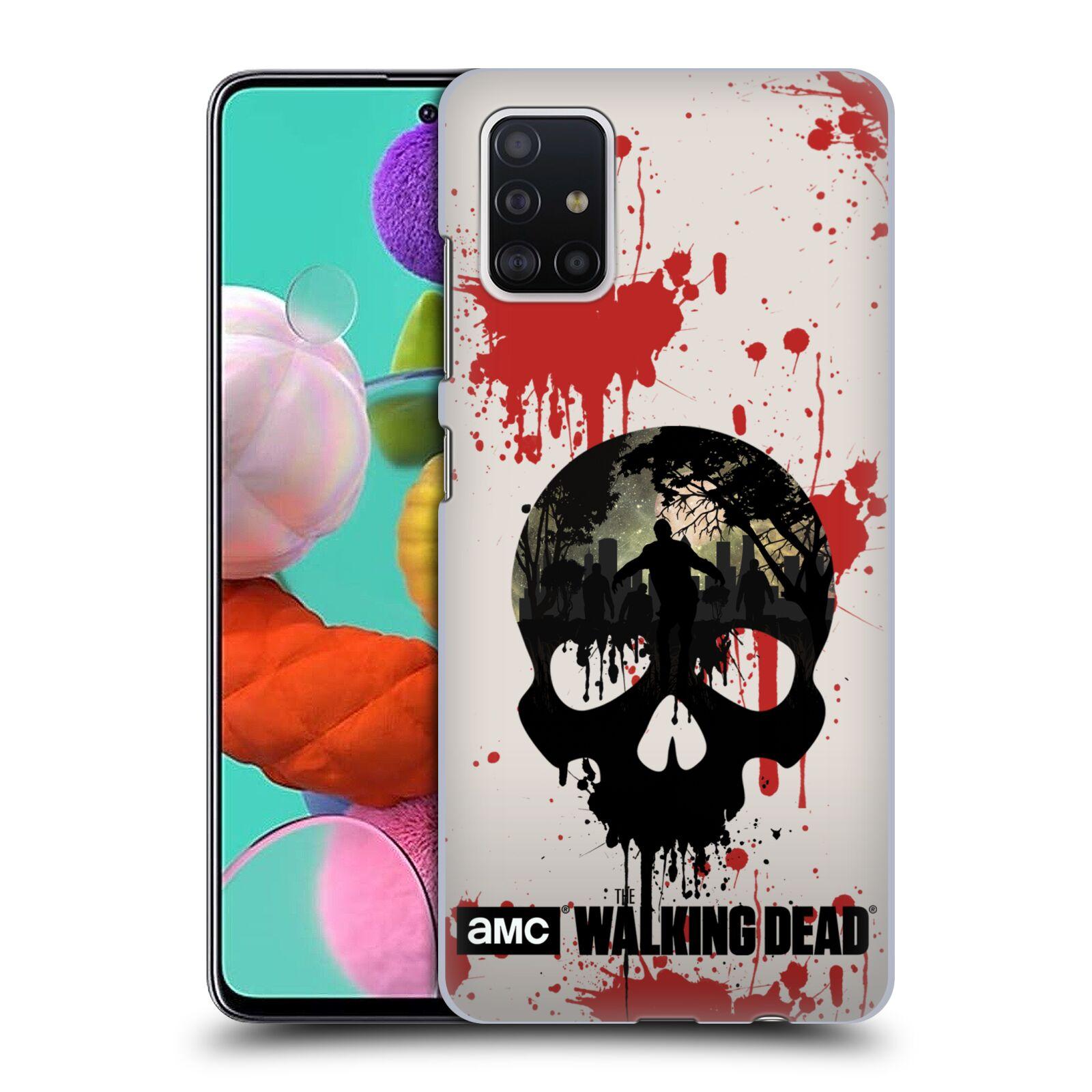Plastové pouzdro na mobil Samsung Galaxy A51 - Head Case - Živí mrtví - Lebka