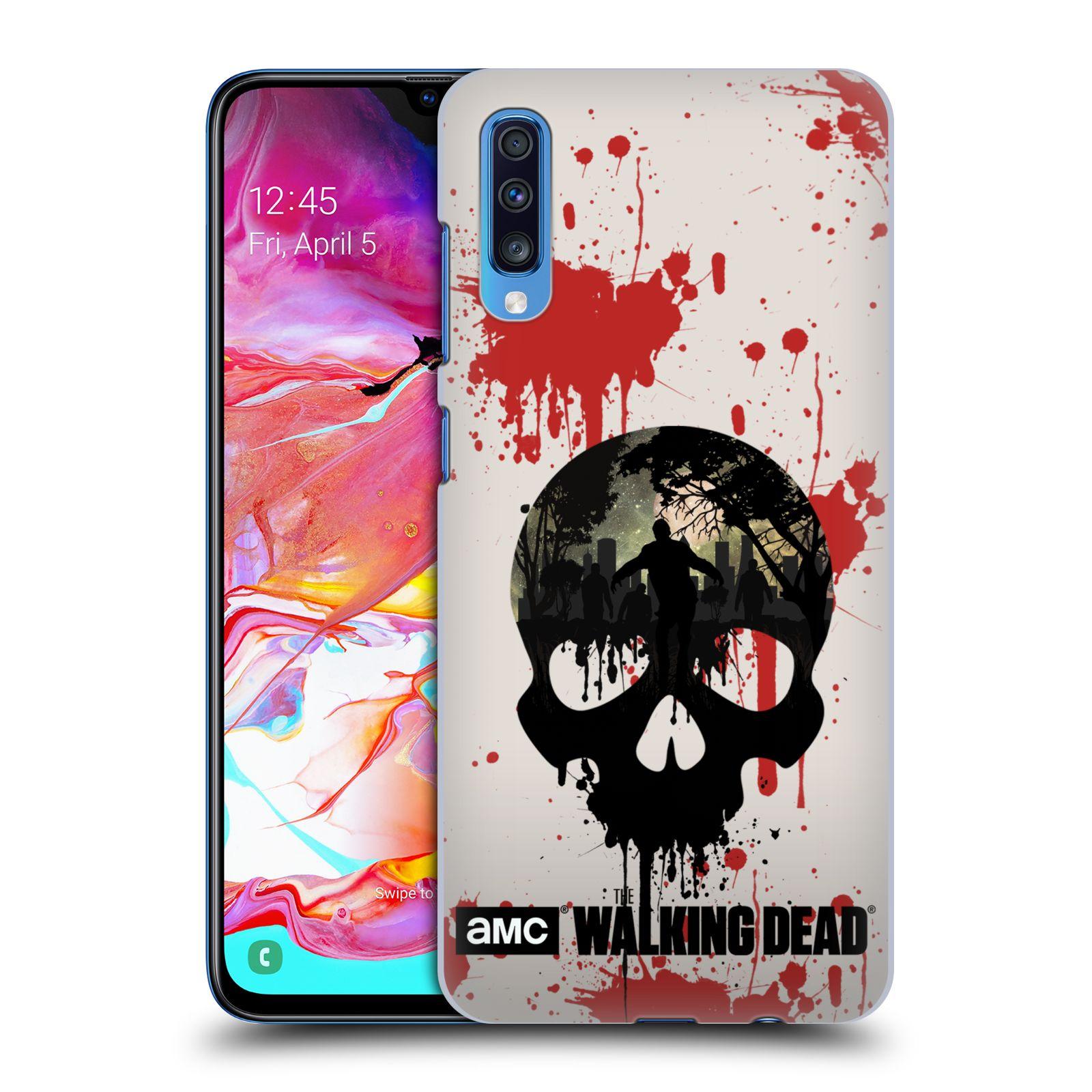 Plastové pouzdro na mobil Samsung Galaxy A70 - Head Case - Živí mrtví - Lebka