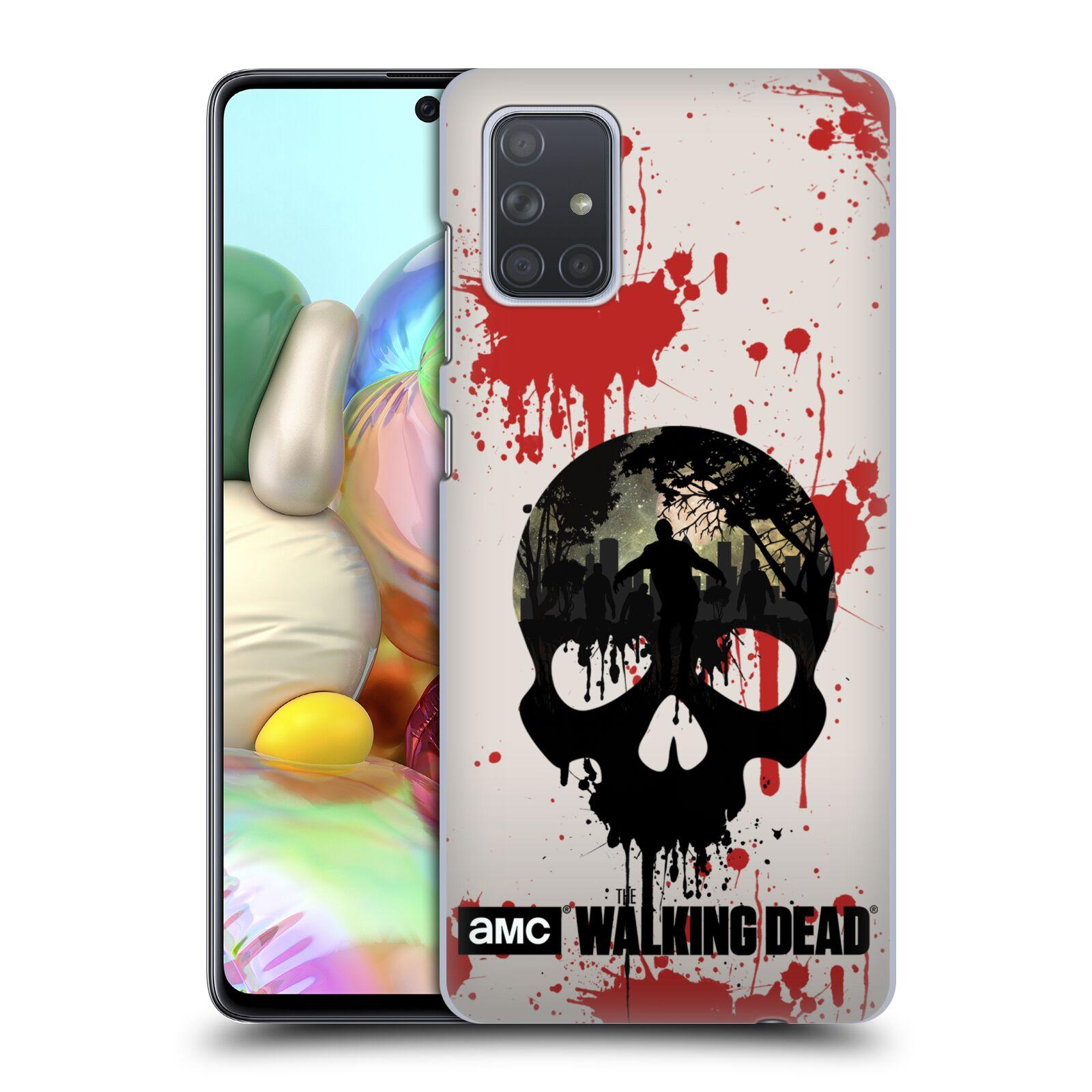Plastové pouzdro na mobil Samsung Galaxy A71 - Head Case - Živí mrtví - Lebka