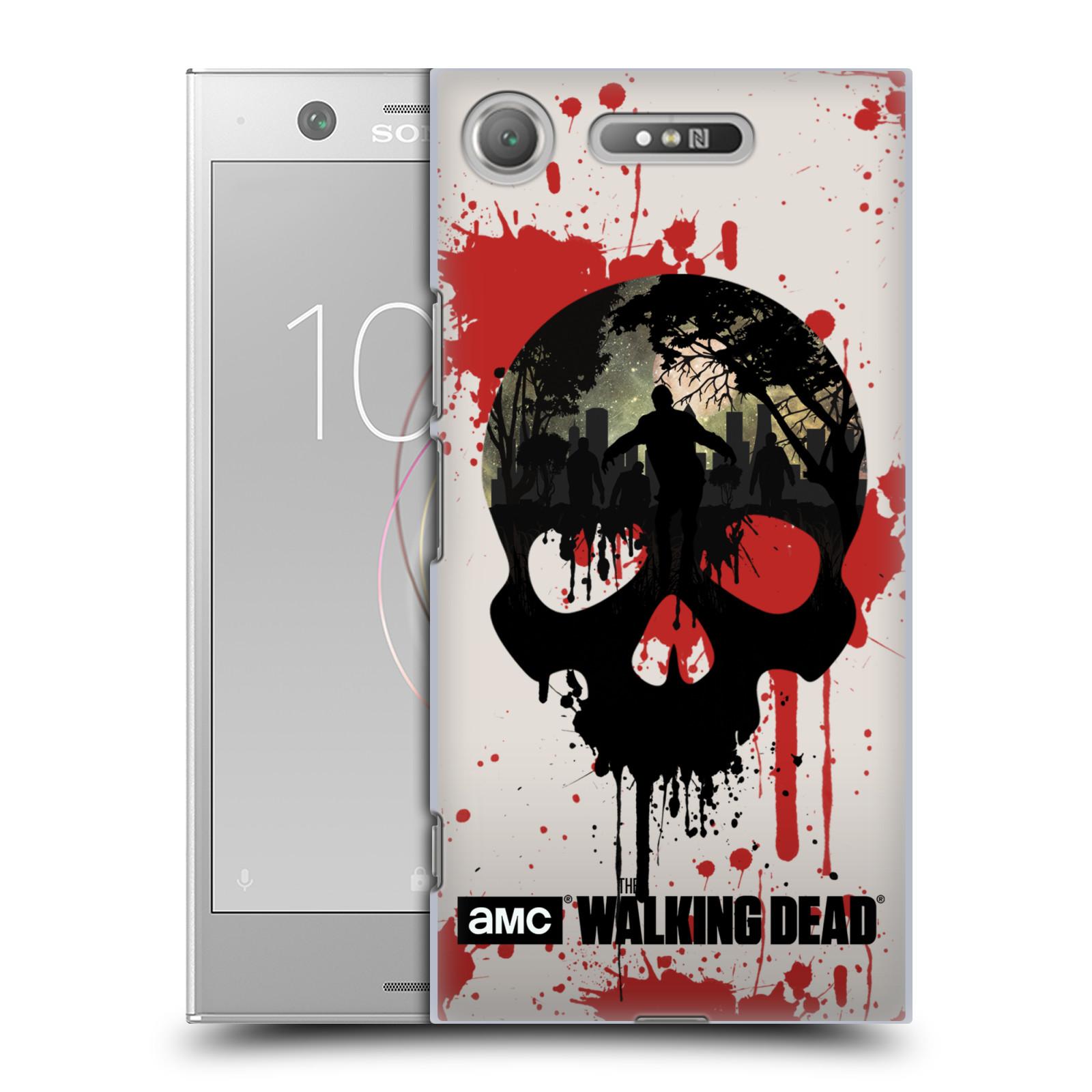 Plastové pouzdro na mobil Sony Xperia XZ1 - Head Case - Živí mrtví - Lebka