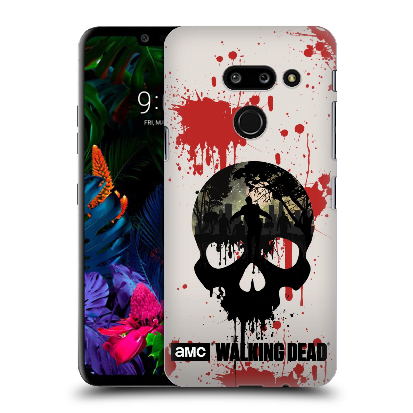 Plastové pouzdro na mobil LG G8 ThinQ - Head Case - Živí mrtví - Lebka