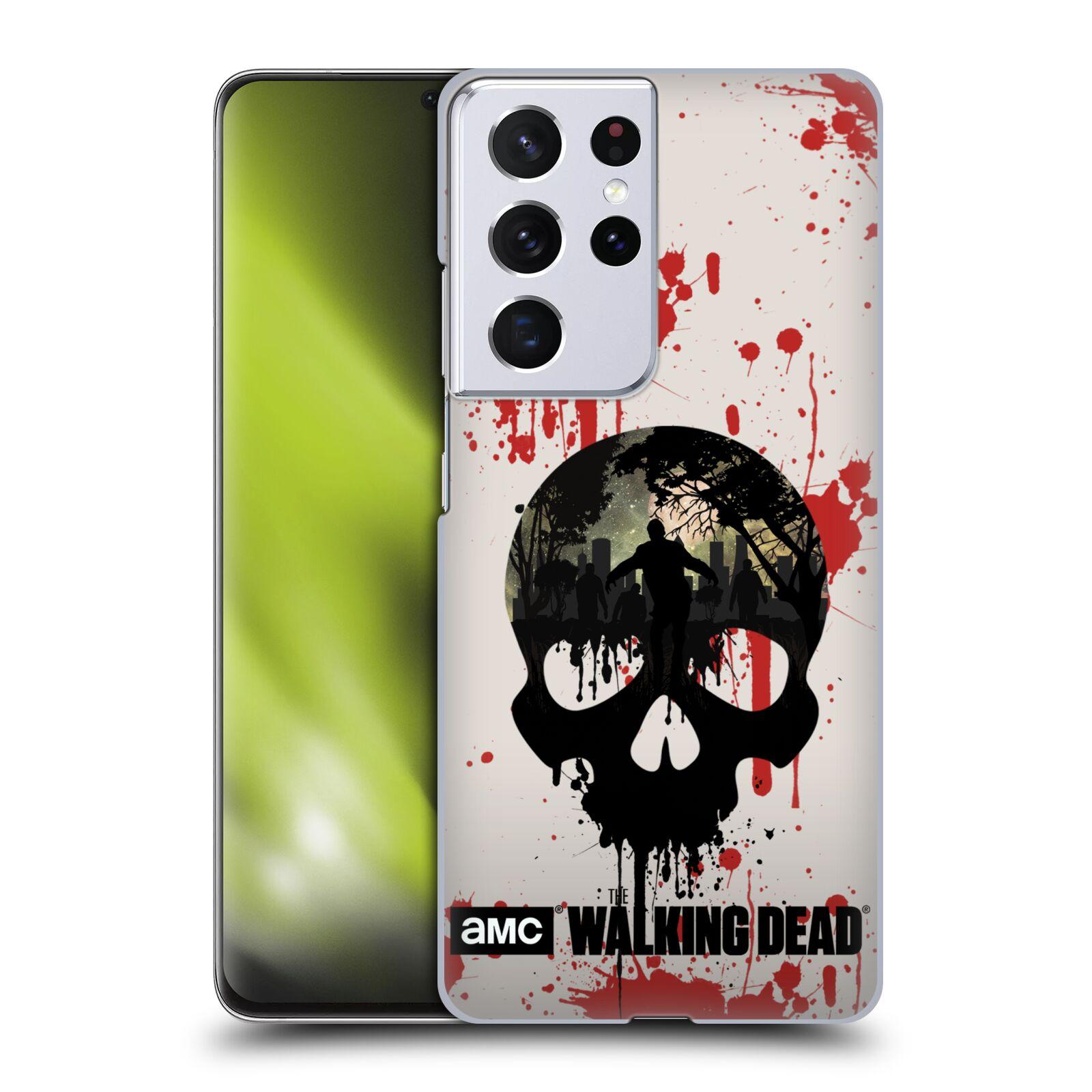 Plastové pouzdro na mobil Samsung Galaxy S21 Ultra 5G - Head Case - Živí mrtví - Lebka
