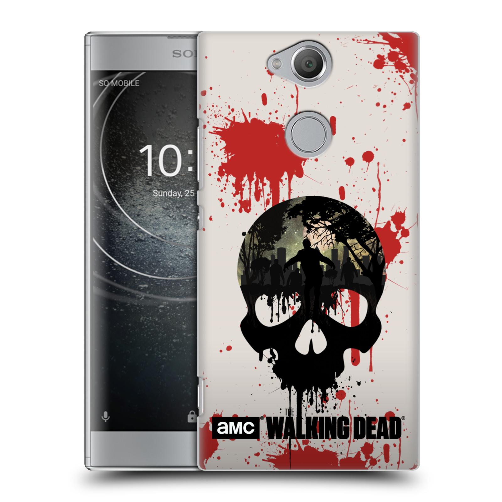 Plastové pouzdro na mobil Sony Xperia XA2 - Head Case - Živí mrtví - Lebka