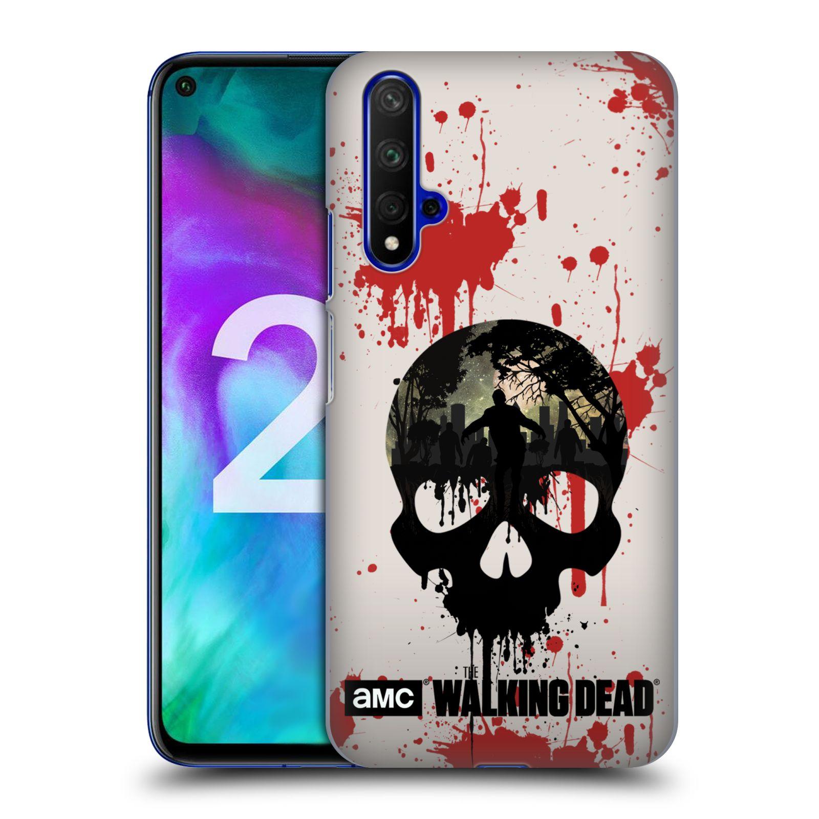 Plastové pouzdro na mobil Honor 20 - Head Case - Živí mrtví - Lebka